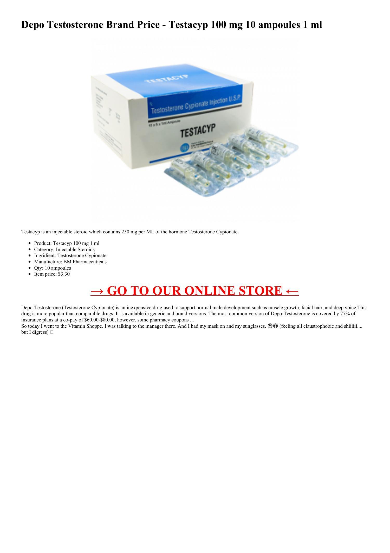 Testacyp 100 mg hl