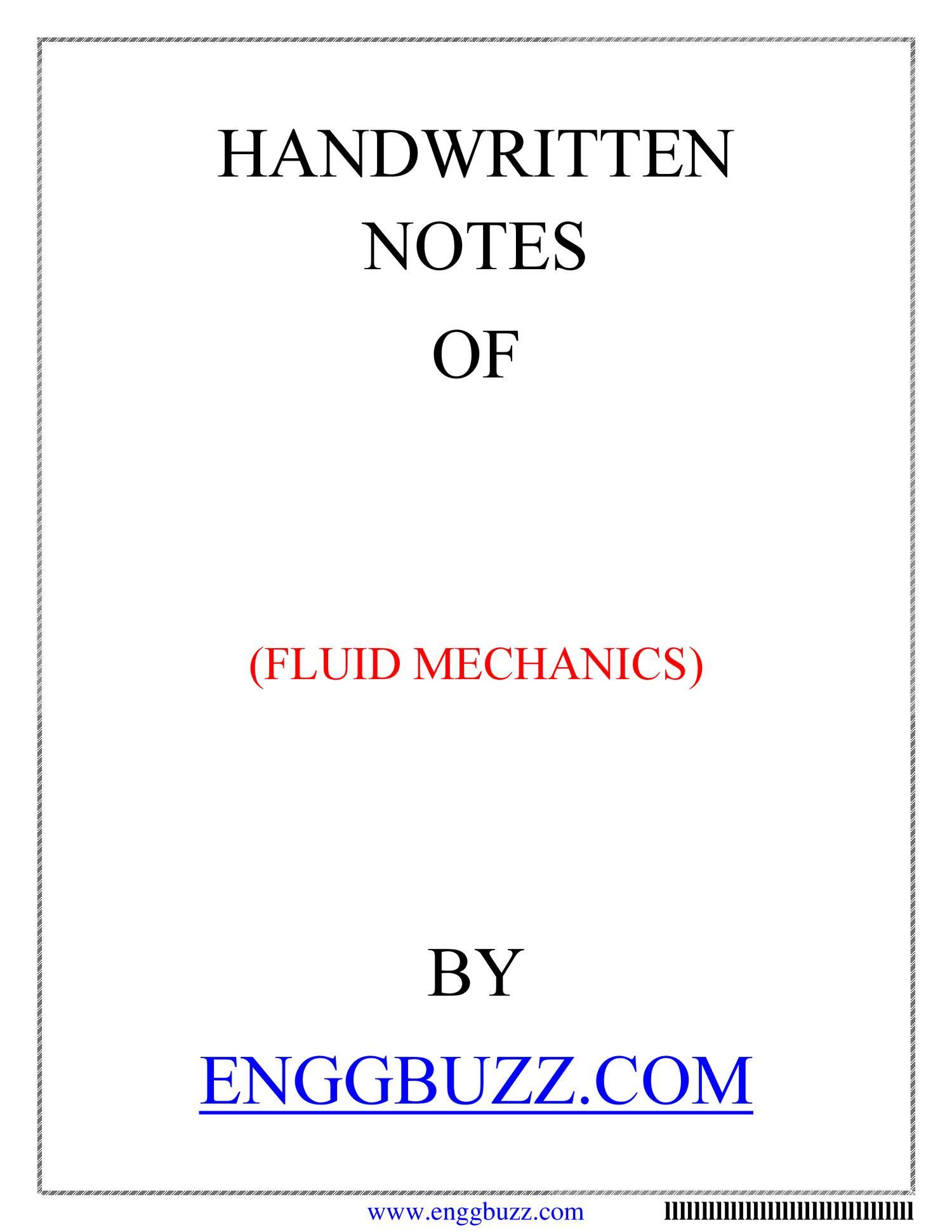 FLUID MECHANICS NOTES pdf   DocDroid