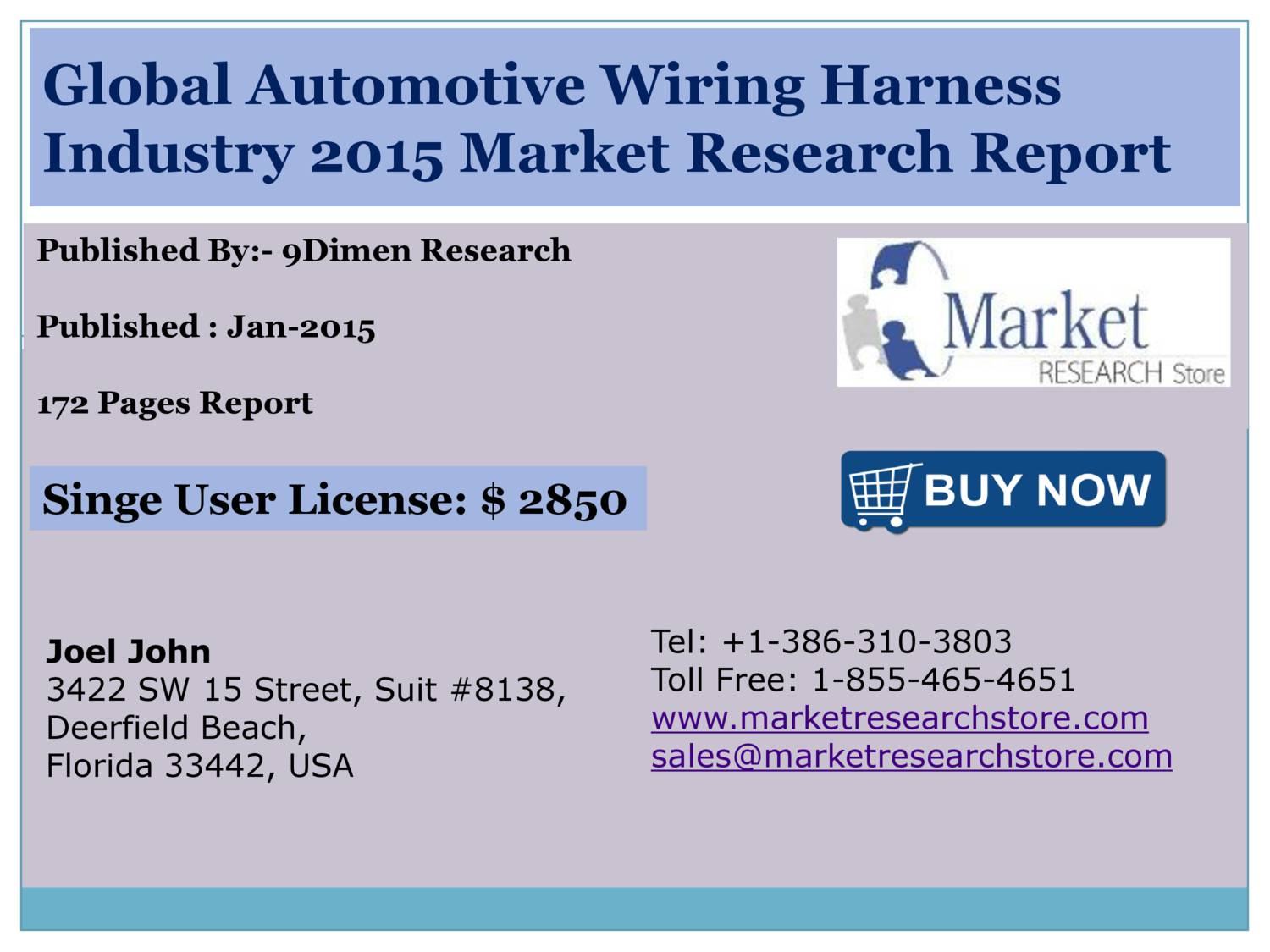 Global Automotive Wiring Harness Industry 2015 Size Share Growth Trends Demand And Forecast pdf on wiringharness