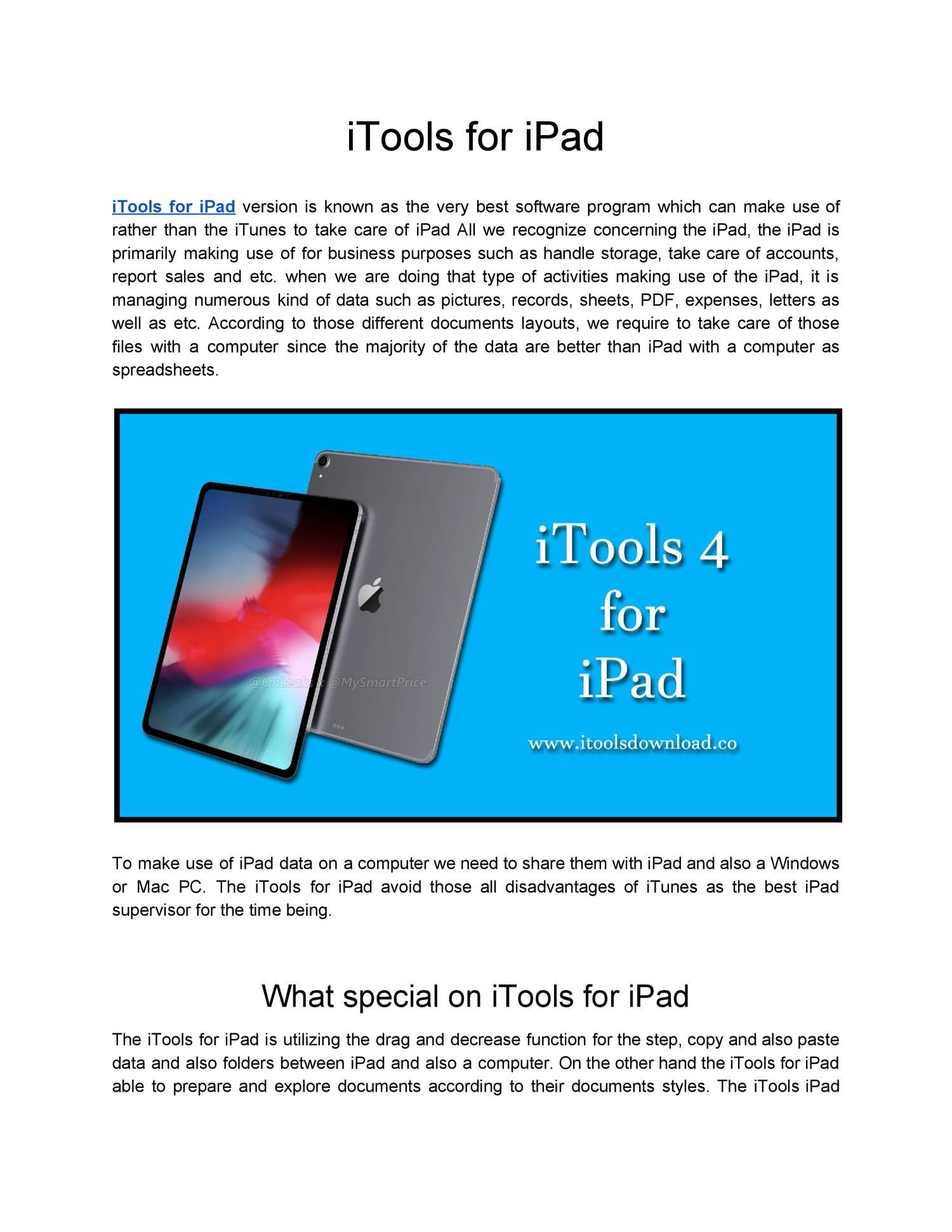 iTools for iPad pdf | DocDroid
