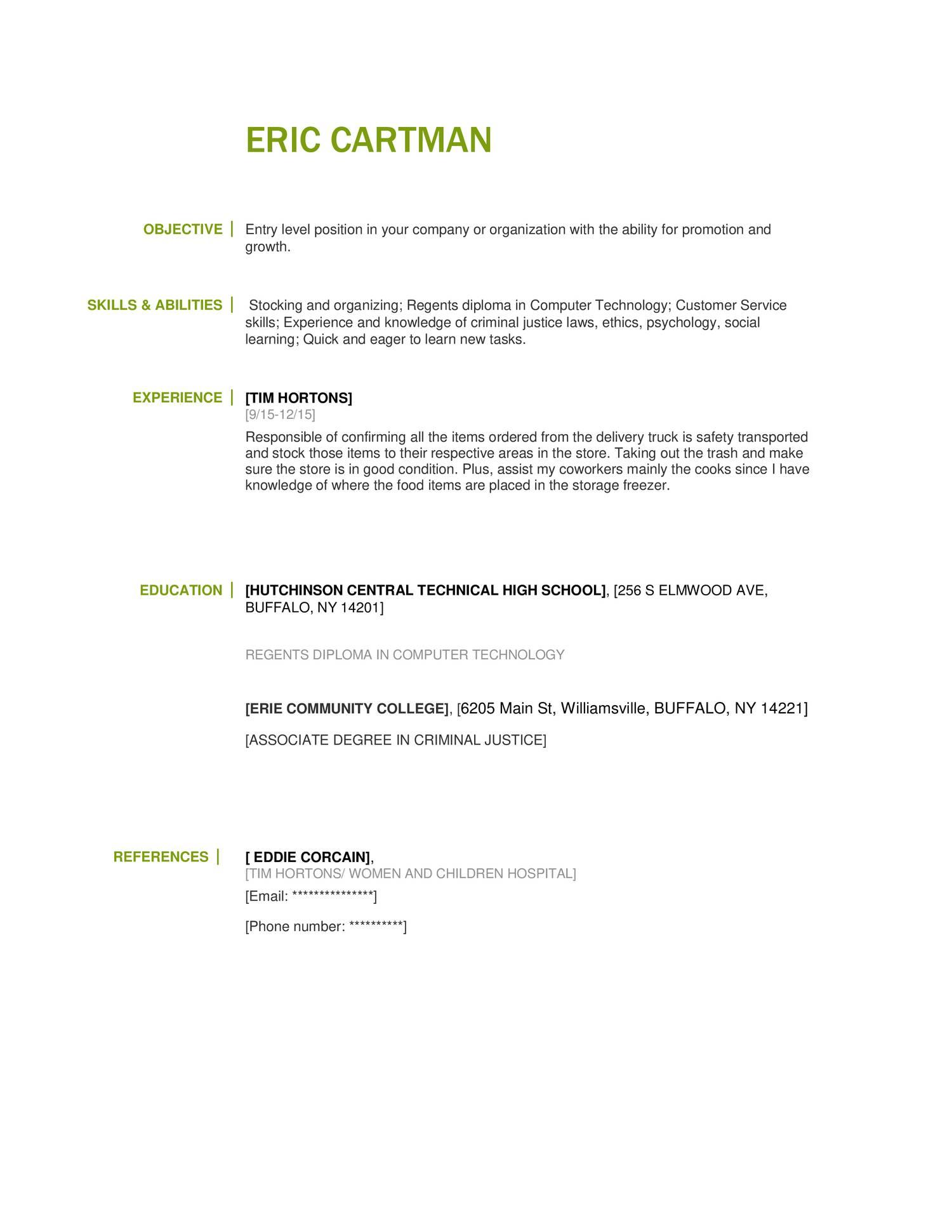 Fake Resume Docx Docdroid