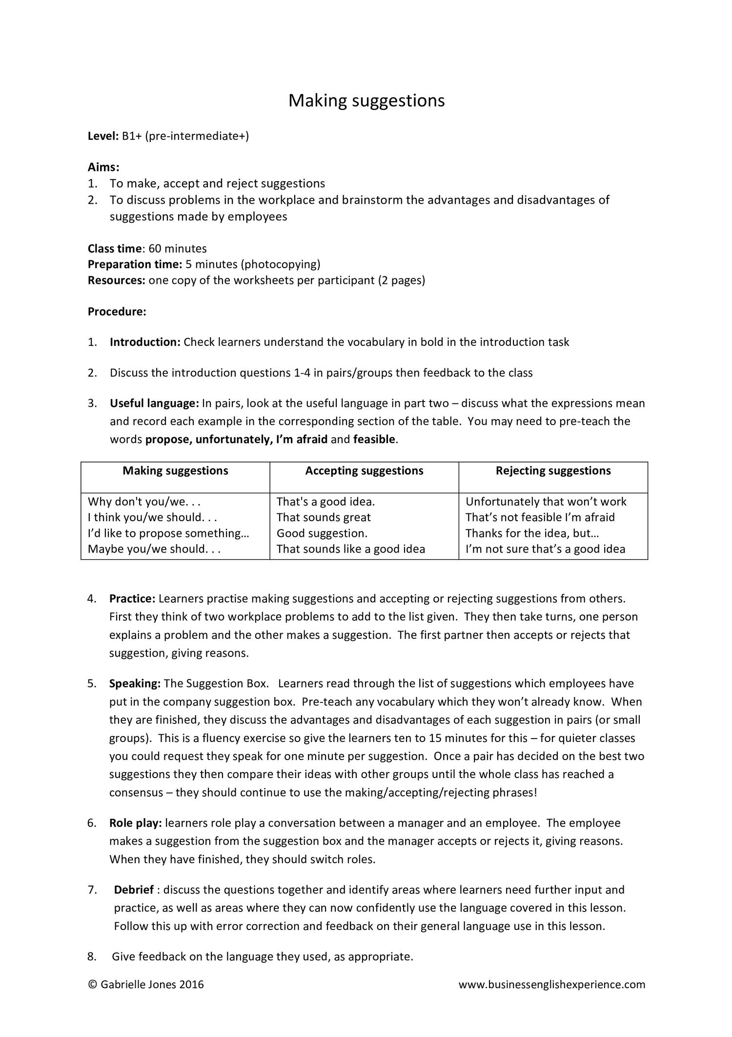 Making suggestions pdf   DocDroid