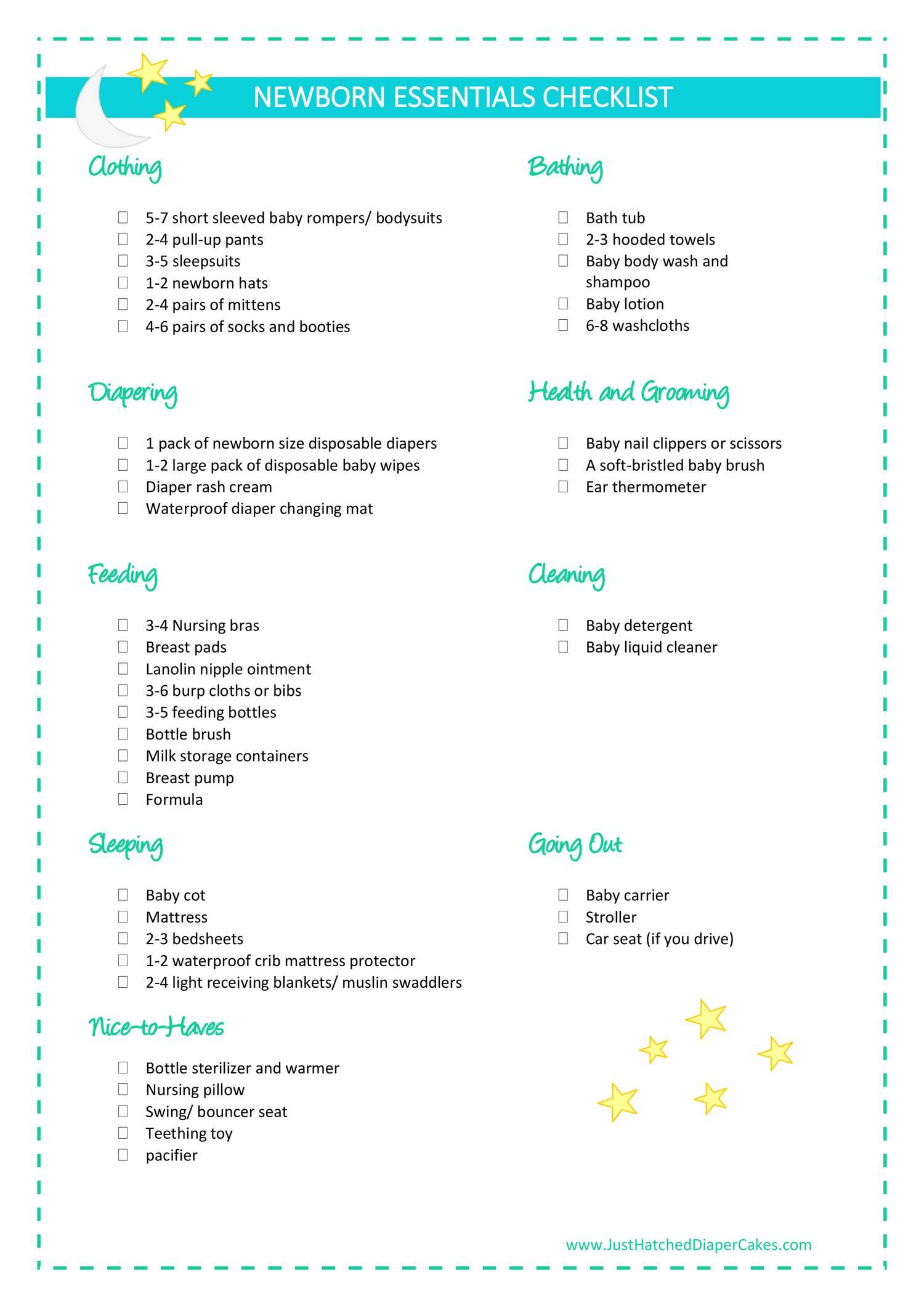 checklist for newborn kazan klonec co