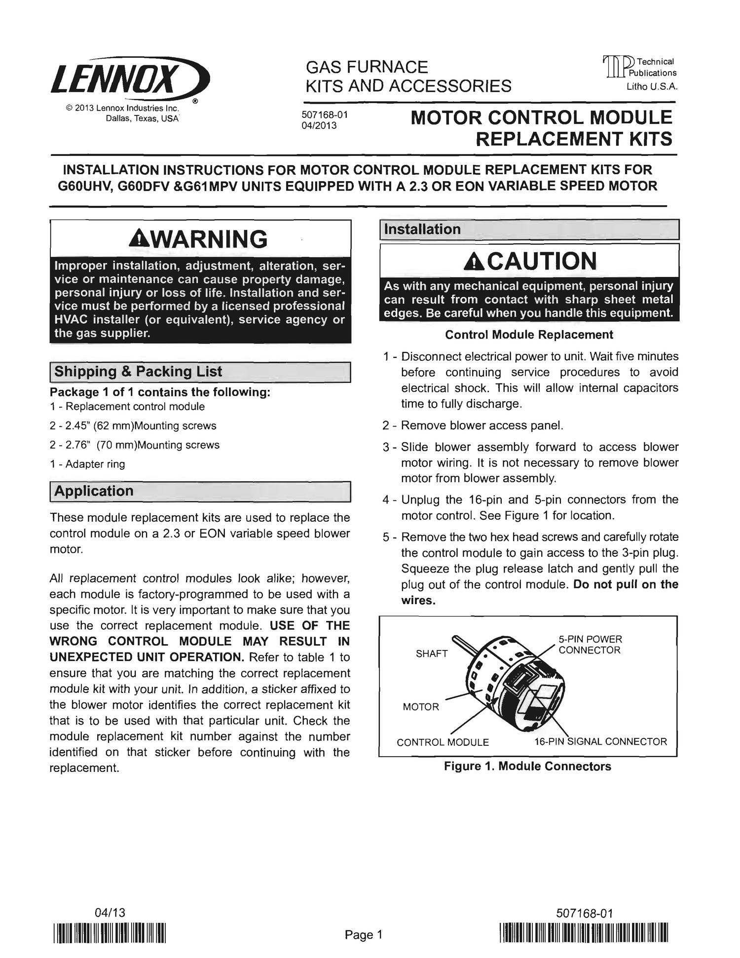 Lennox 10M08 Motor Control Module Replacement.pdf - DocDroid