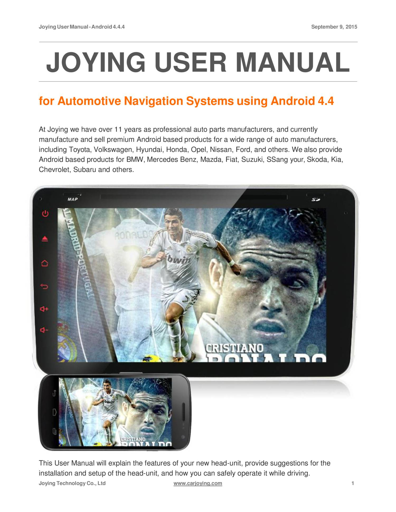 Joying User Manual Pdf
