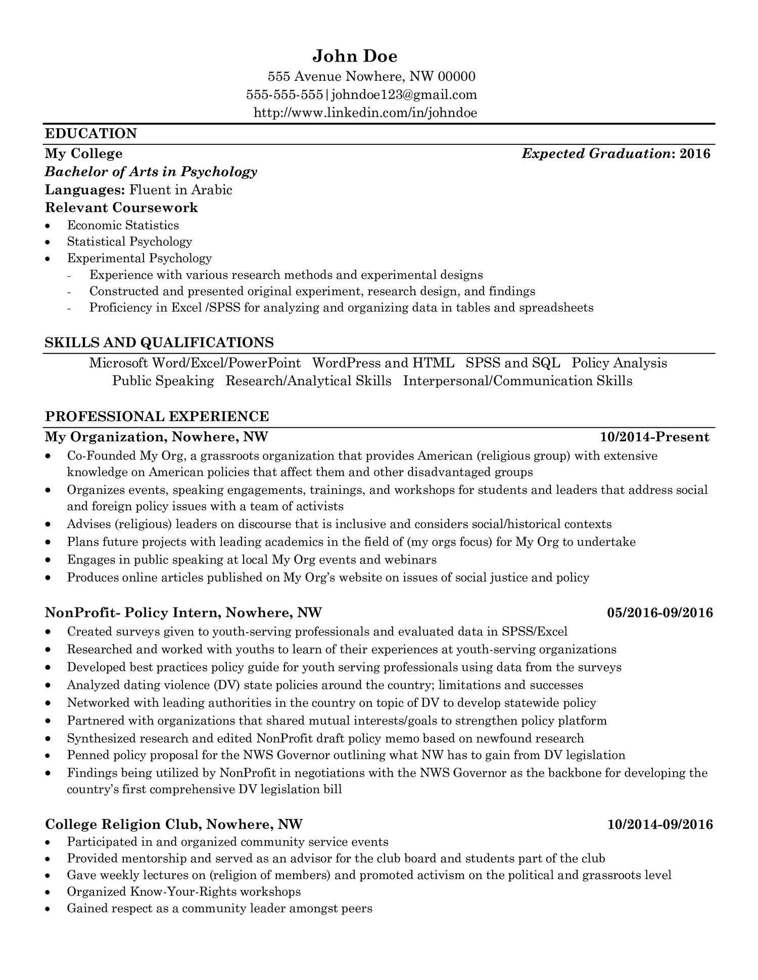 John Doe Resume For Reddit Pdf Docdroid