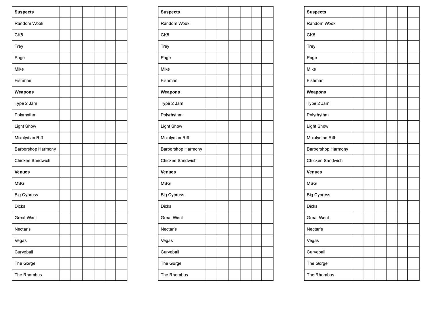 picture regarding Clue Printable Sheets known as phish clue detective sheets.pdf DocDroid