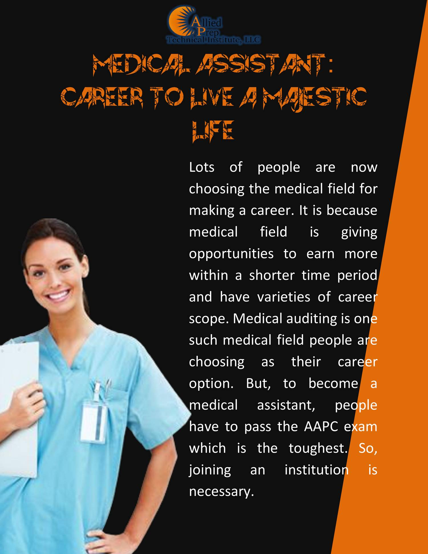 a career into the medical field