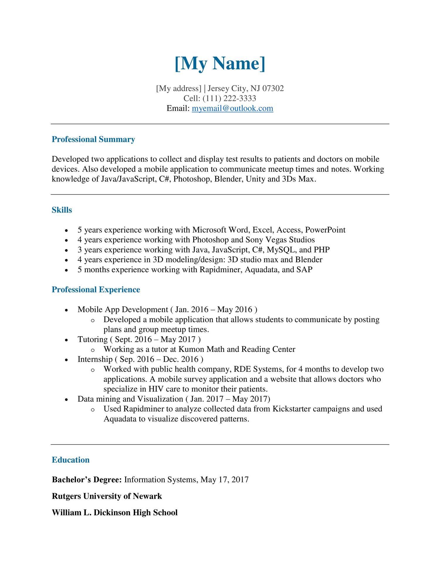 Resume for reddit pdf | DocDroid
