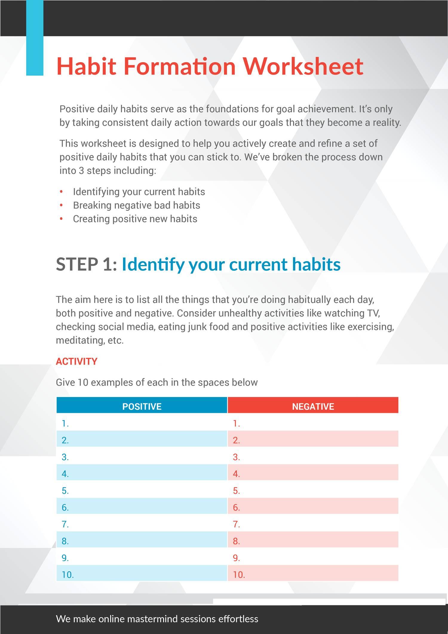 formation step 22 pdf Inside 7 Habits Worksheet Pdf