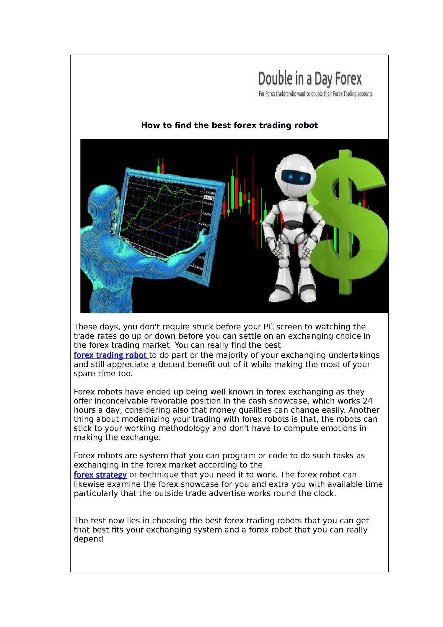 Pdf Forex Trading Robot Pdf Docdroid -
