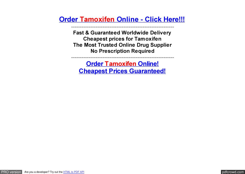 Where can i purchase tamoxifen