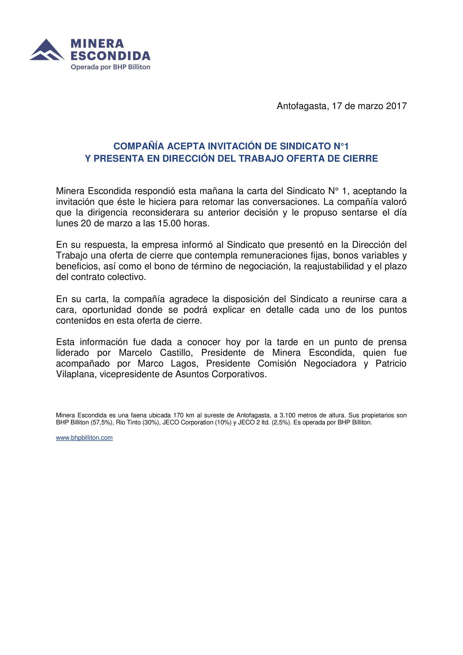 Comunicado de Prensa Minera Escondida.docx - DocDroid