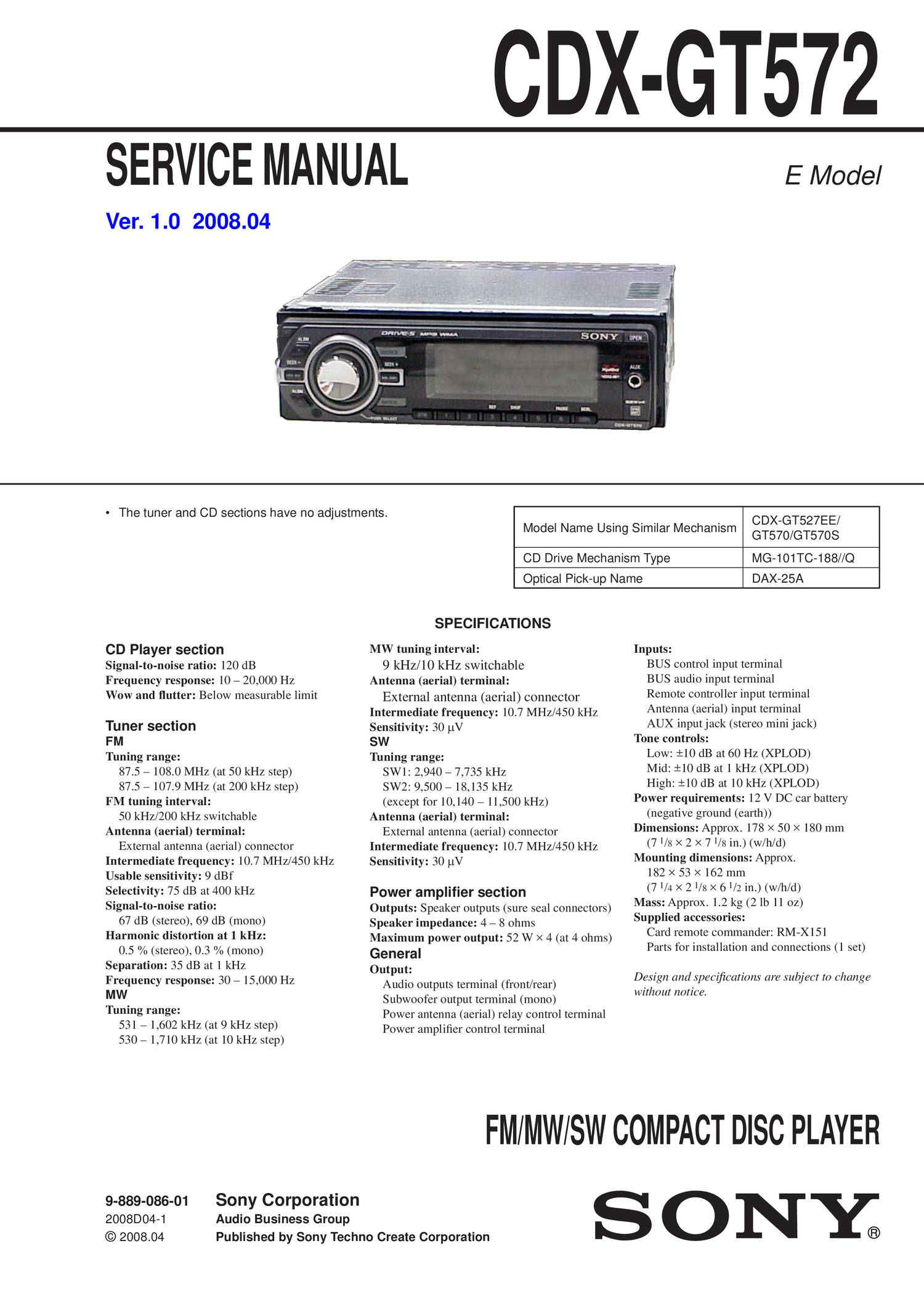 Sony Cdx Gt510 Wiring Diagram together with Sony Fm Am  pact Disc Player Cdx Gt210 Wiring Diagram also Sony Xplod Lifier Wiring Diagram likewise Sony Cd Player Cdx Gt310 Wiring Diagram together with Sony Cdx Gt310 Wiring Diagram. on sony xplod cdx gt25m wiring