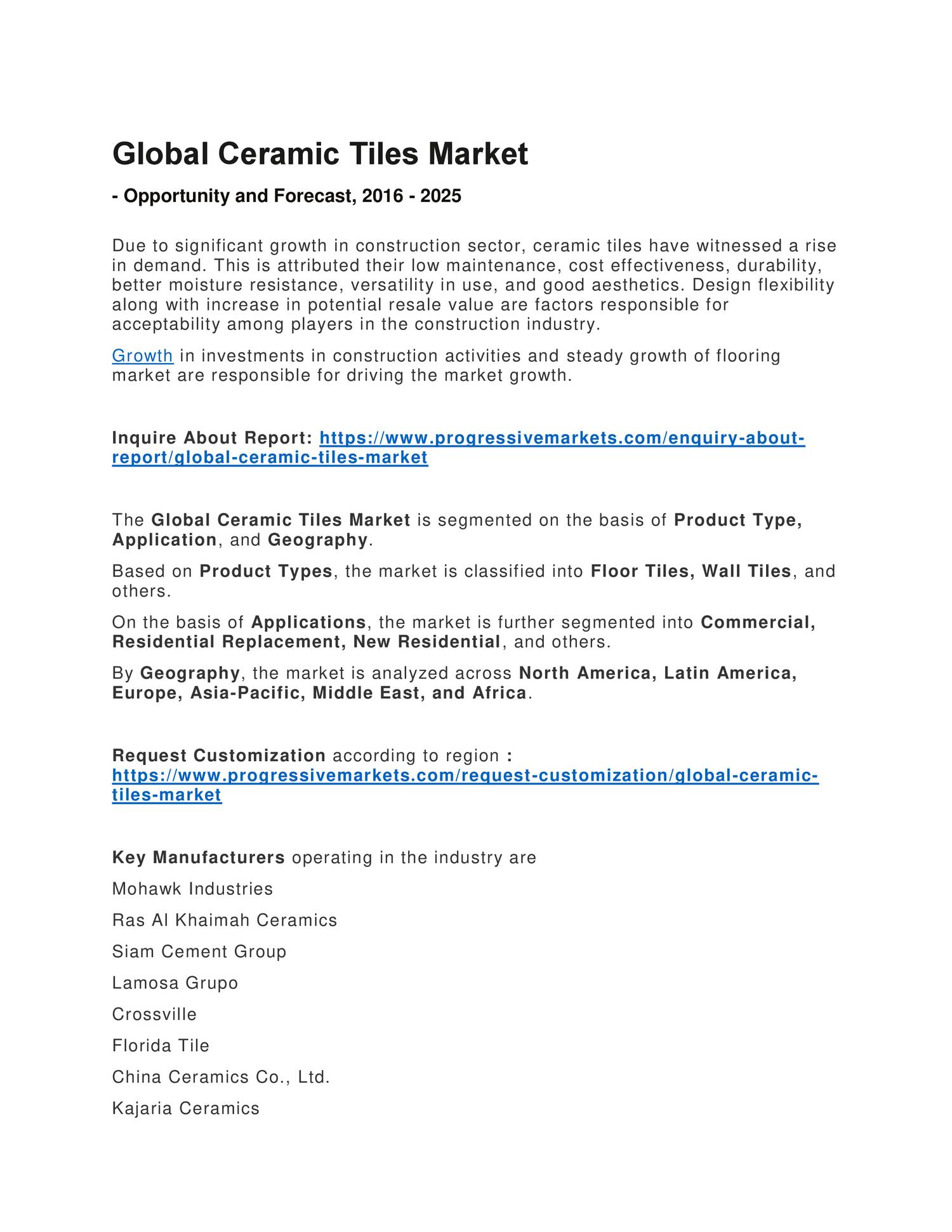 Ceramic tiles market research report size share global growth ceramic tiles market research report size share global growth opportunities and forecast 2016 2025pdf docdroid dailygadgetfo Choice Image