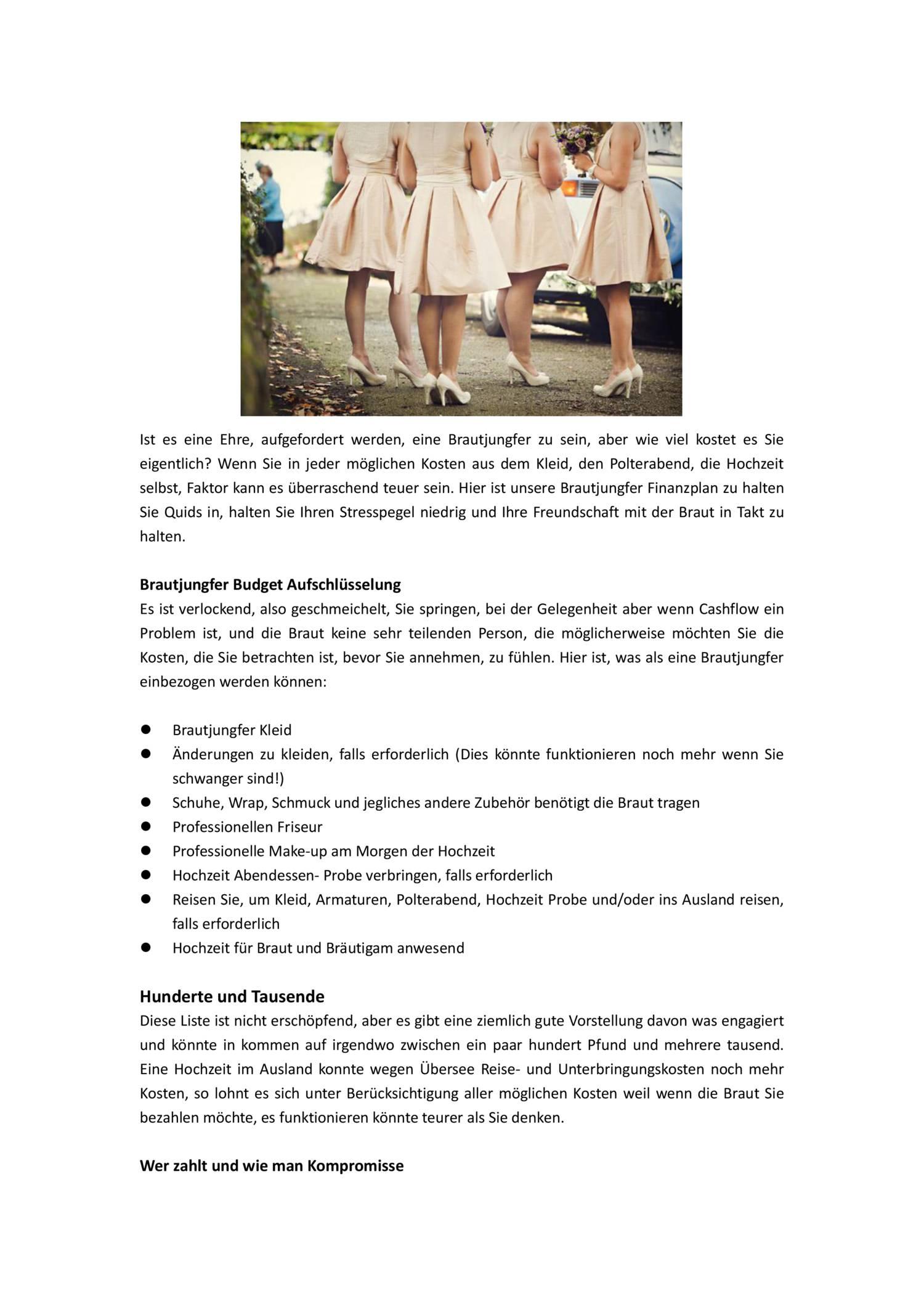 Ziemlich Brautjunferkleider Für Hochzeiten Im Ausland Fotos ...