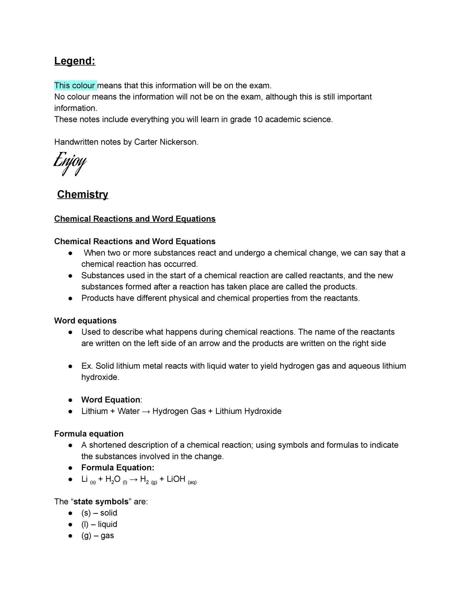 Grade 10 Science Master Notes Pdf Pdf Docdroid