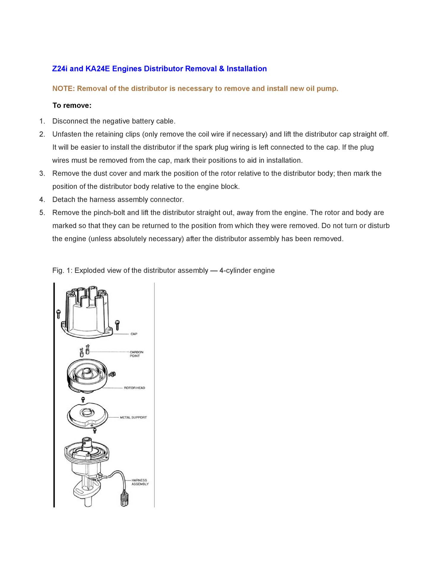 Z24i and KA24E Engines Oil Pump pdf | DocDroid