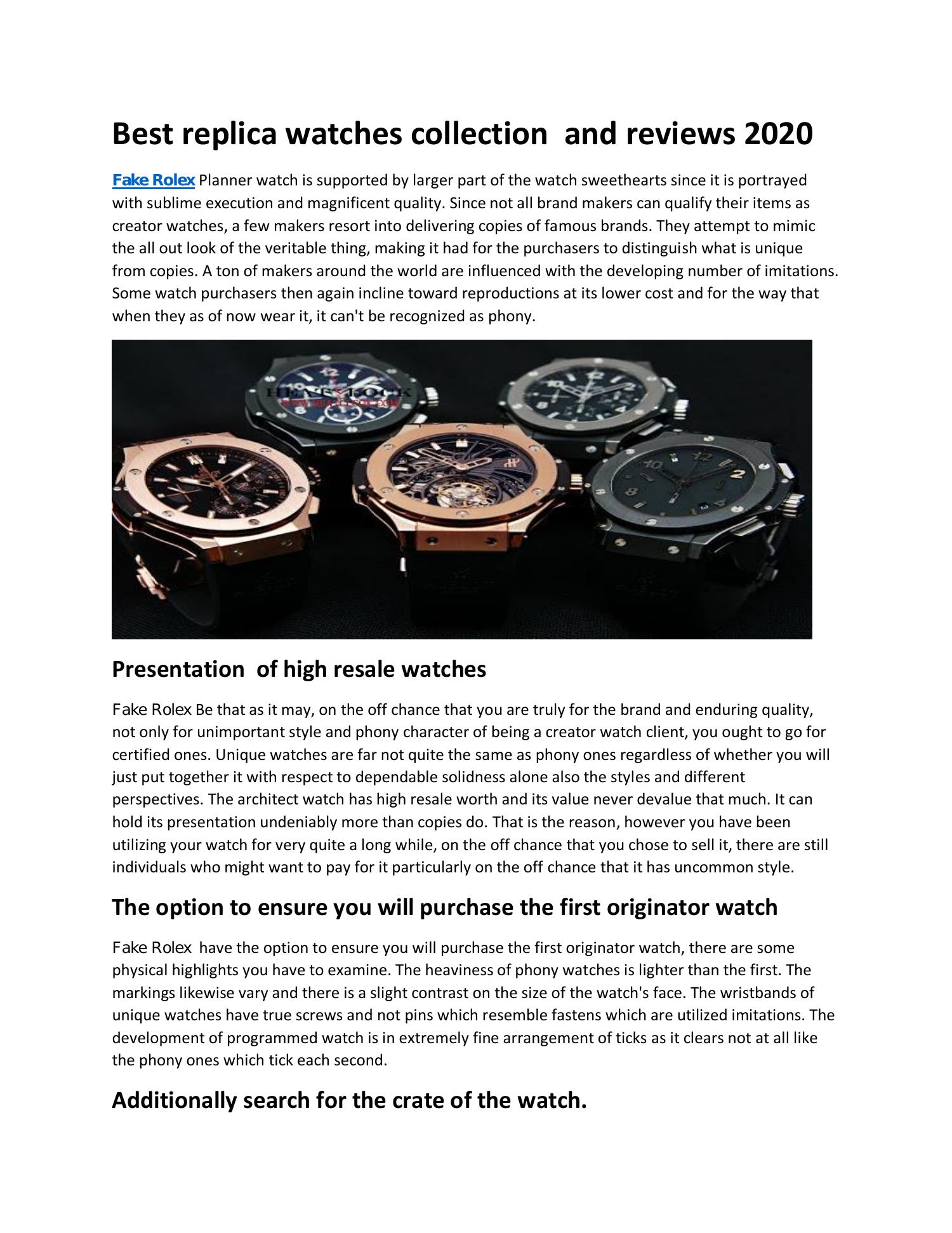 Best Replica Watch Site 2021 Best replica watches collection and reviews 2021.pdf | DocDroid