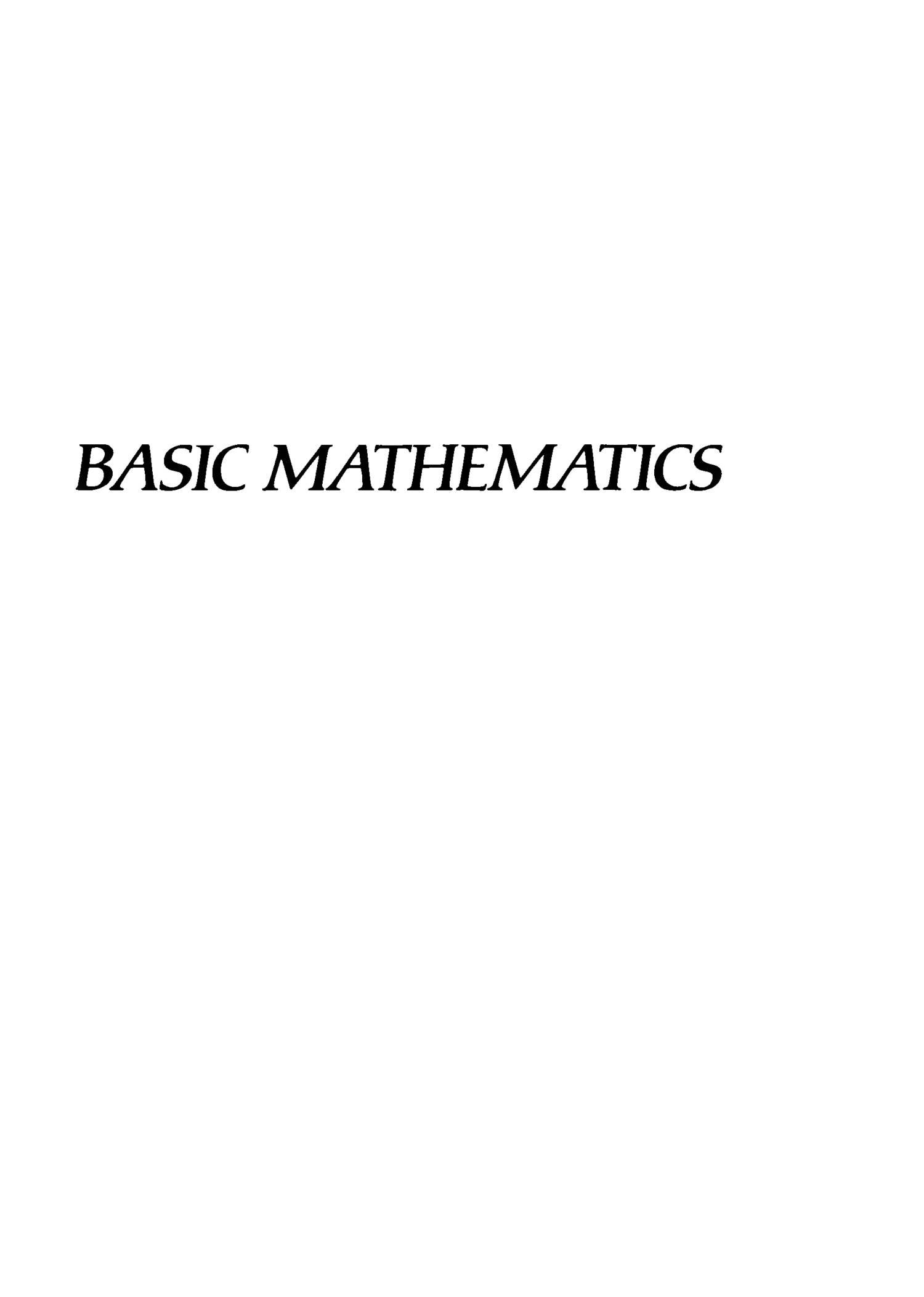 Basic Mathematics: Lang, Serge: 9780387967875: Amazon.com ...