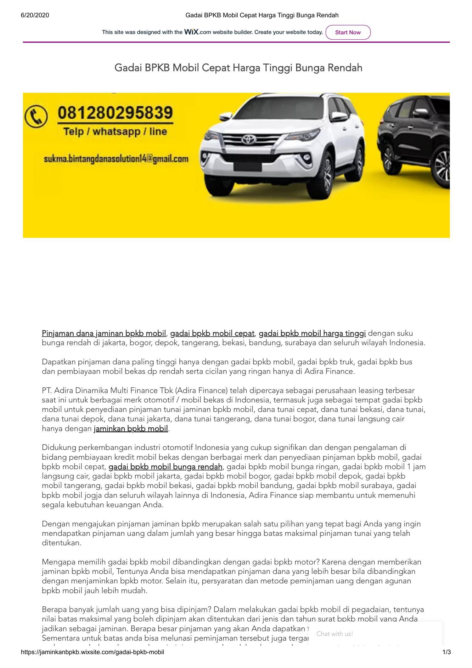 Gadai BPKB Mobil Cepat Harga Tinggi Bunga Rendah.pdf ...