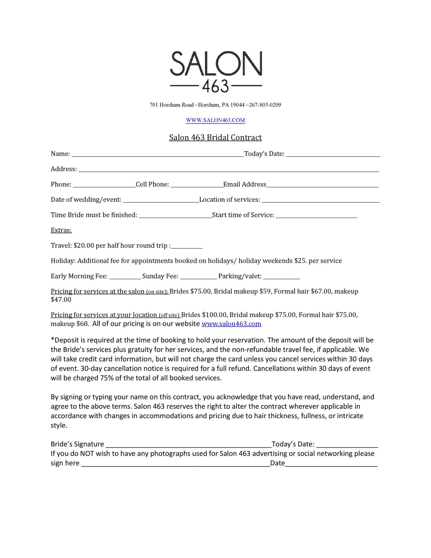 Salon463 bridal contractcx docdroid altavistaventures Gallery