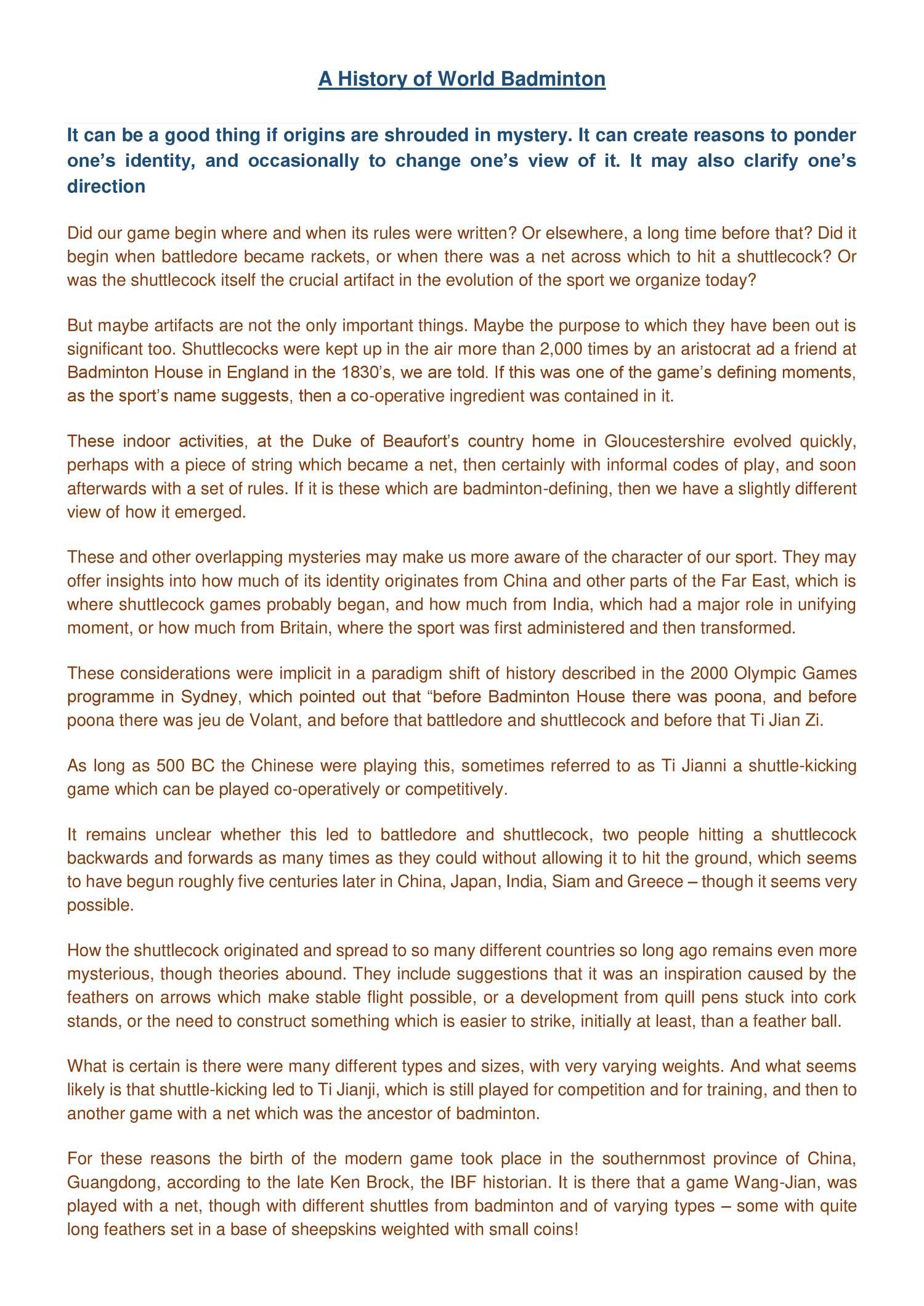 A History of World Badminton pdf | DocDroid