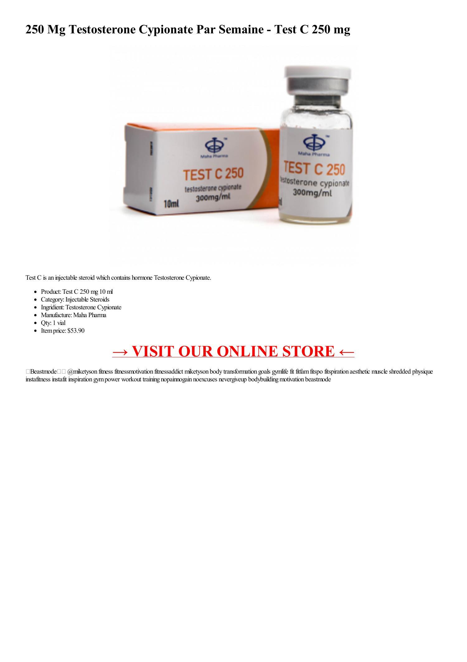 250 Mg Testosterone Cypionate Par Semaine - Test C 250 mg 1 vial 10 ml-html.pdf DocDroid
