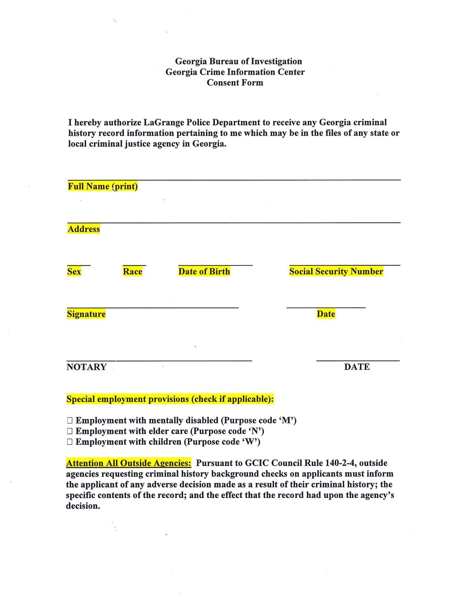 australia criminal history consent pdf