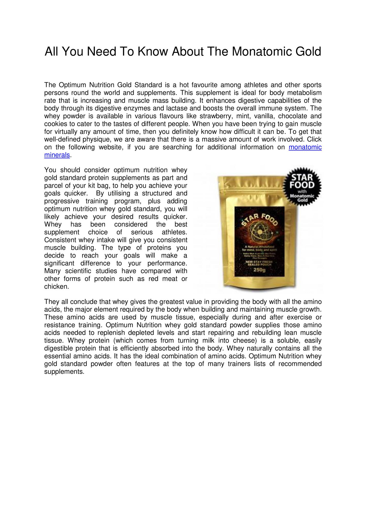 All You Need To Know About The Monatomic Gold pdf | DocDroid