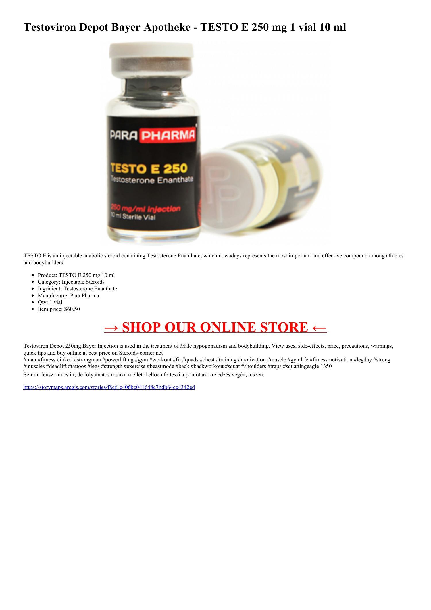 Testoviron-e 300 mg xs