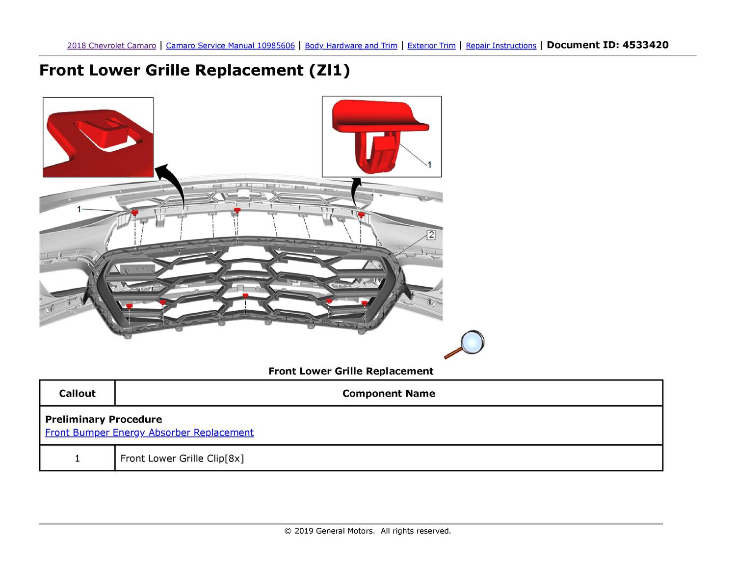 Zl1 Lower Grille Installation Instructions Pdf Docdroid