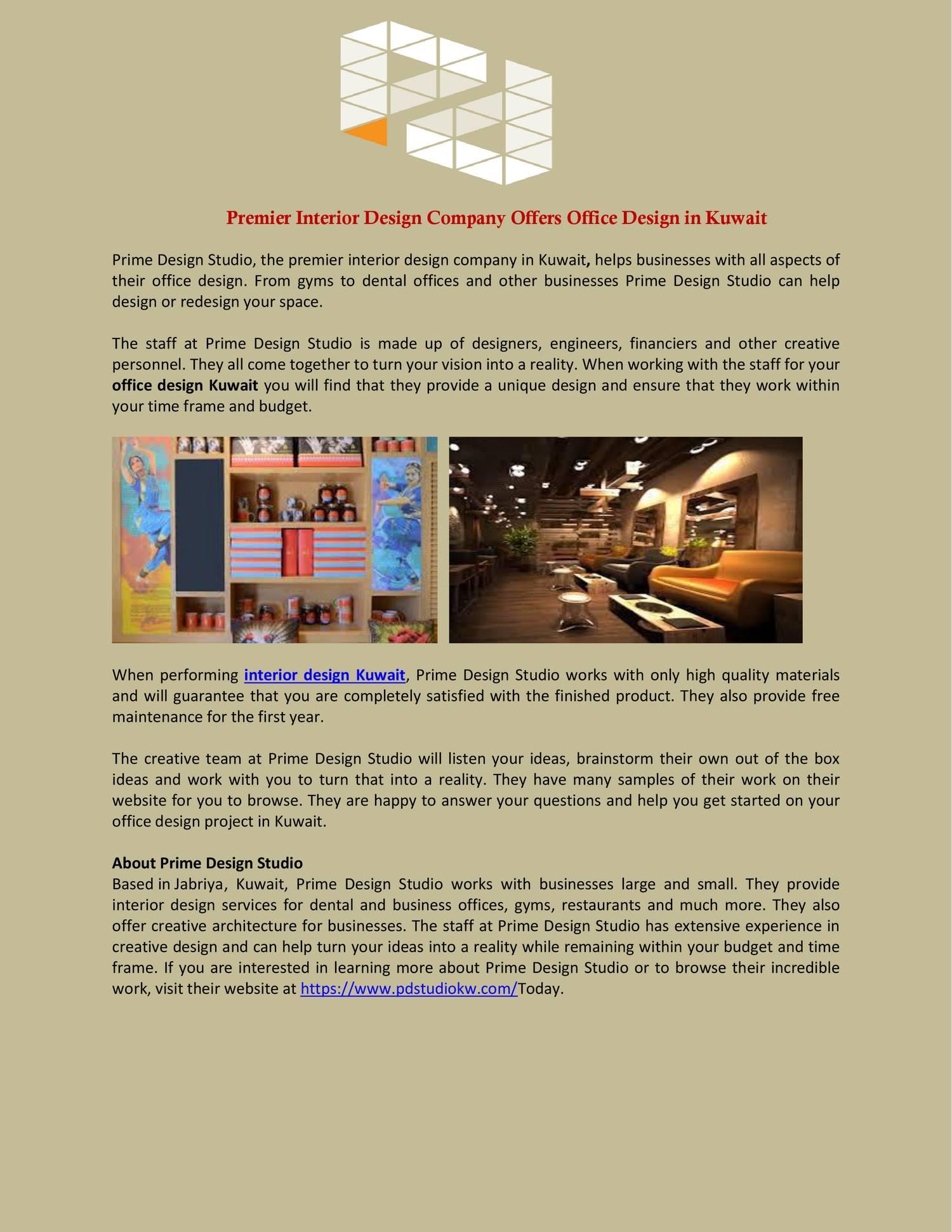 Premier Interior Design Company Offers Office Design in