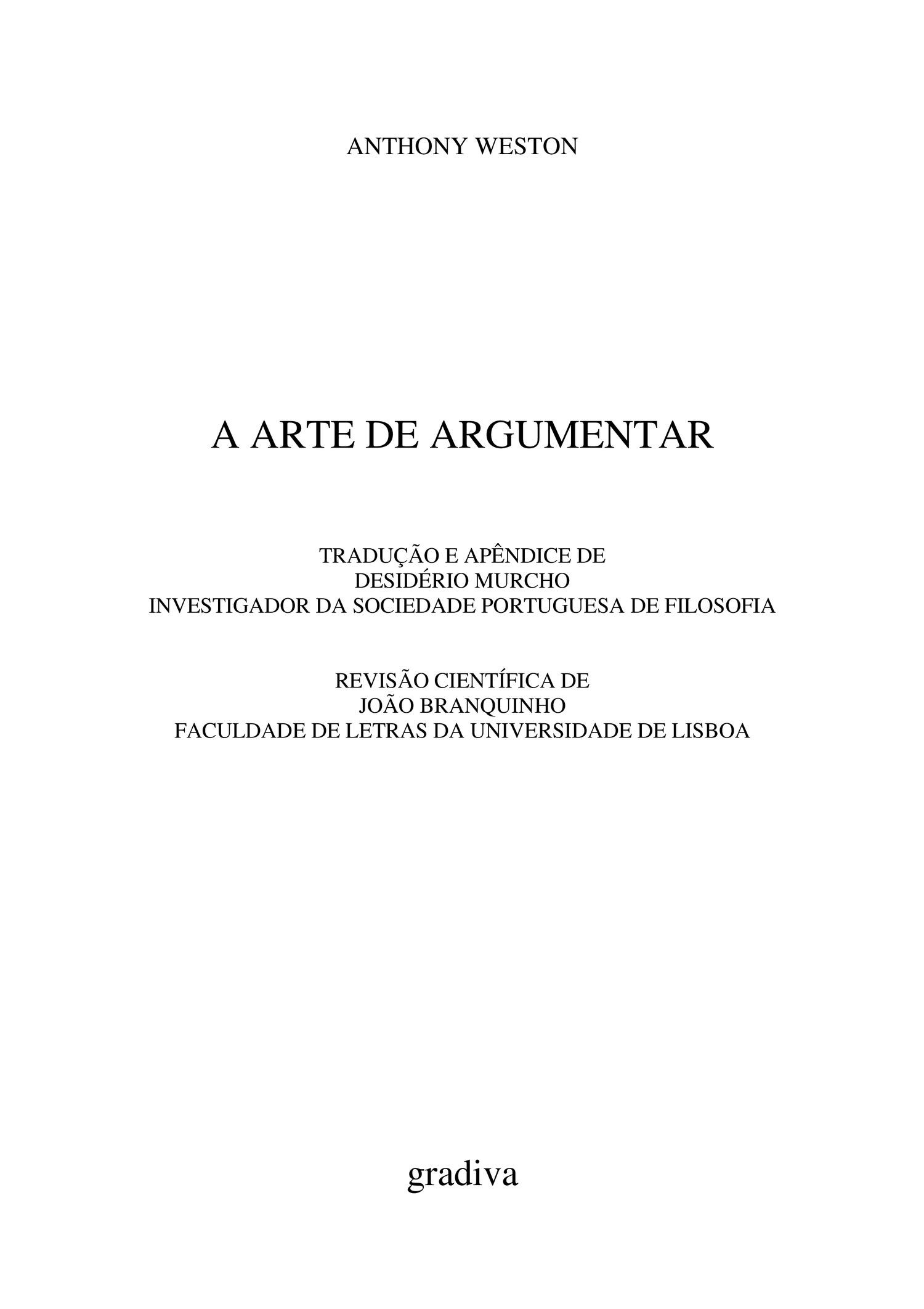 A arte de argumentar completo pdf