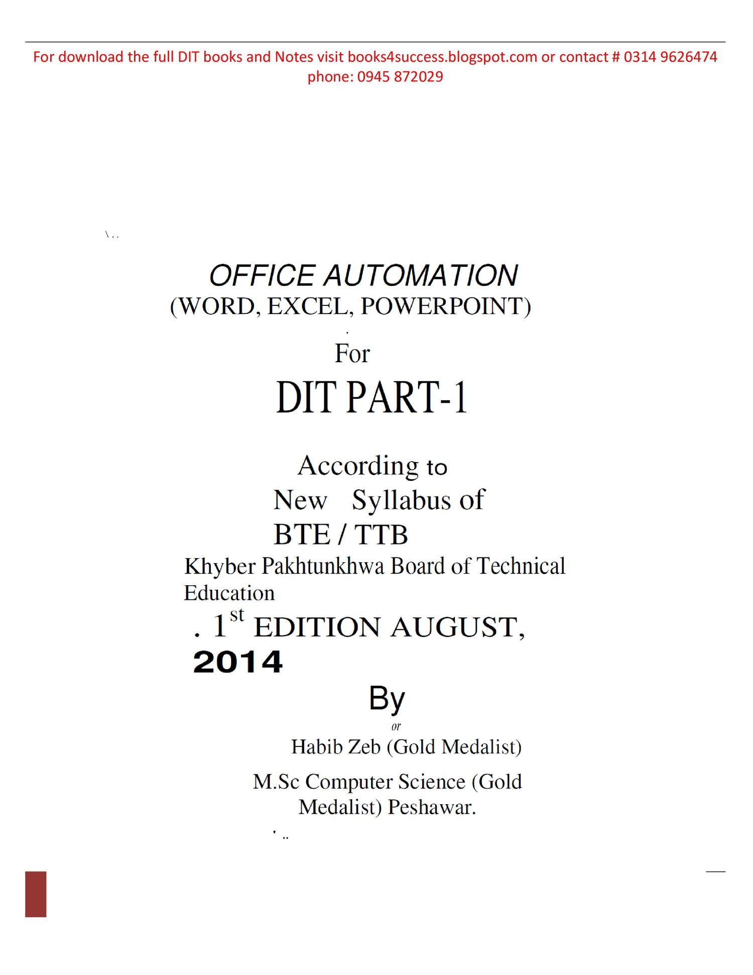 OFFICE AUTOMATION pdf | DocDroid