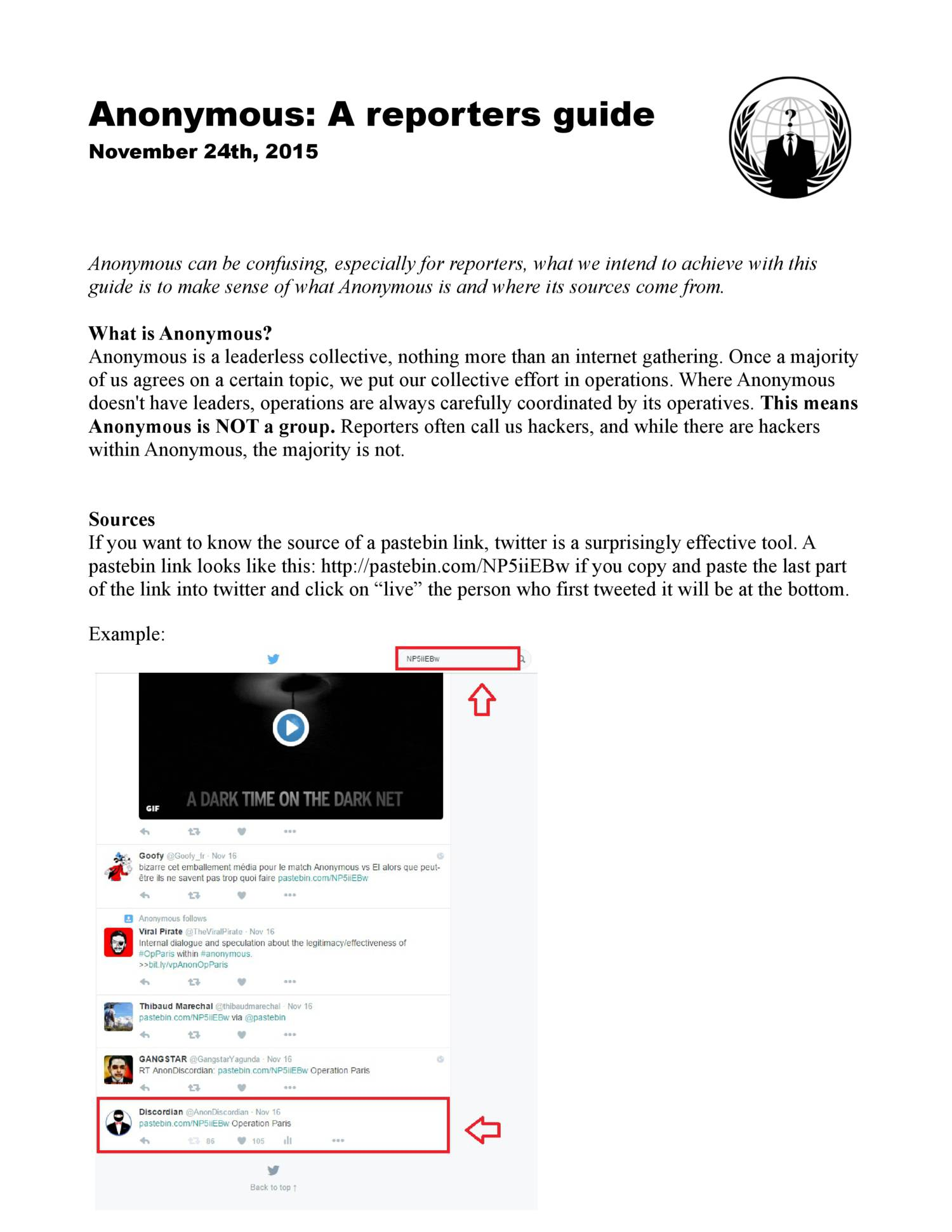 Anonymous - A reporters guide pdf | DocDroid