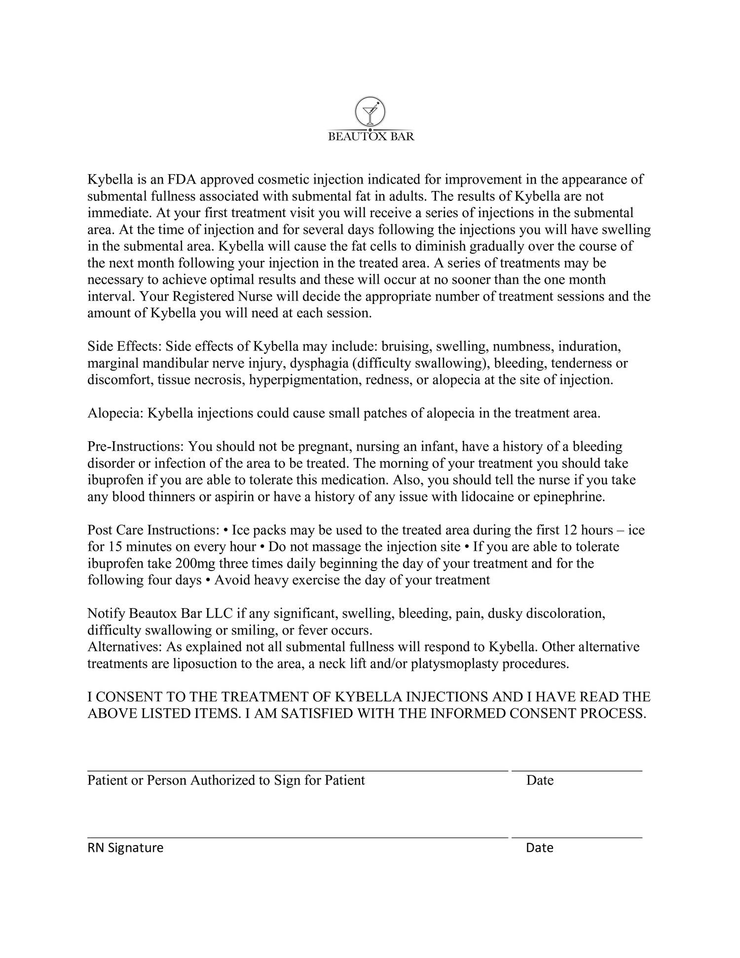 Kybella Consent Form Pdf Docdroid
