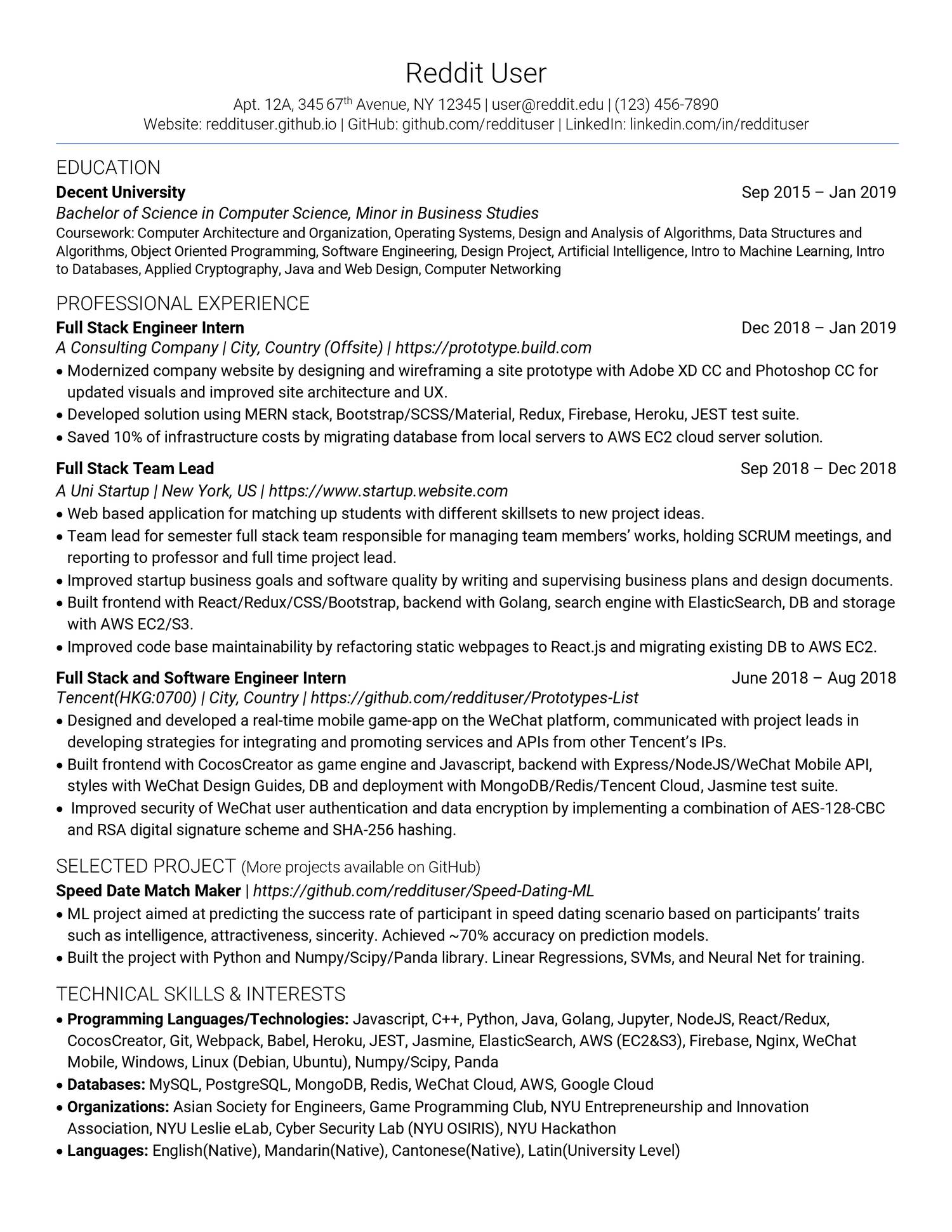 Reddit User Resume Pdf Docdroid