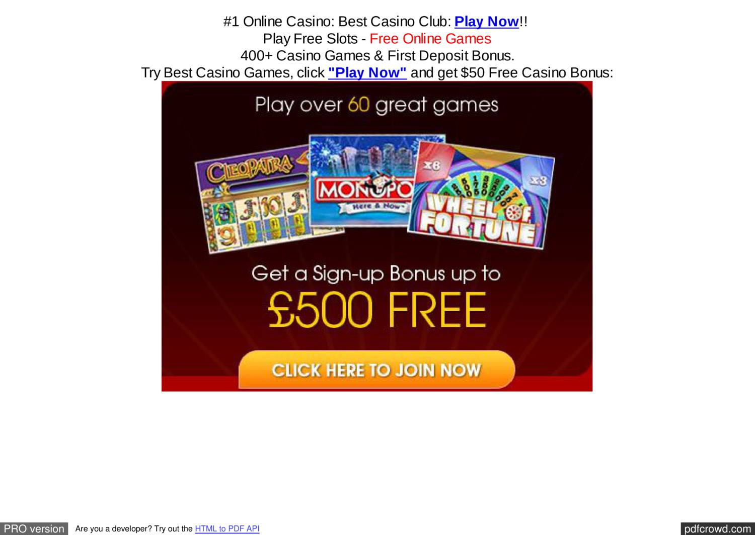Play free online mobile casino games casino boy fetti