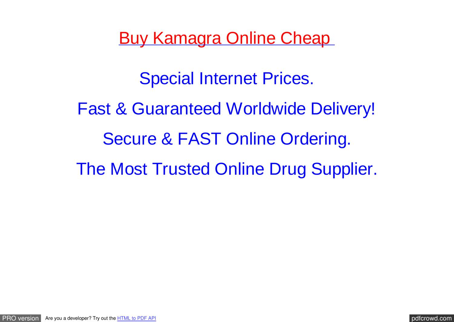 How much does kamagra cost