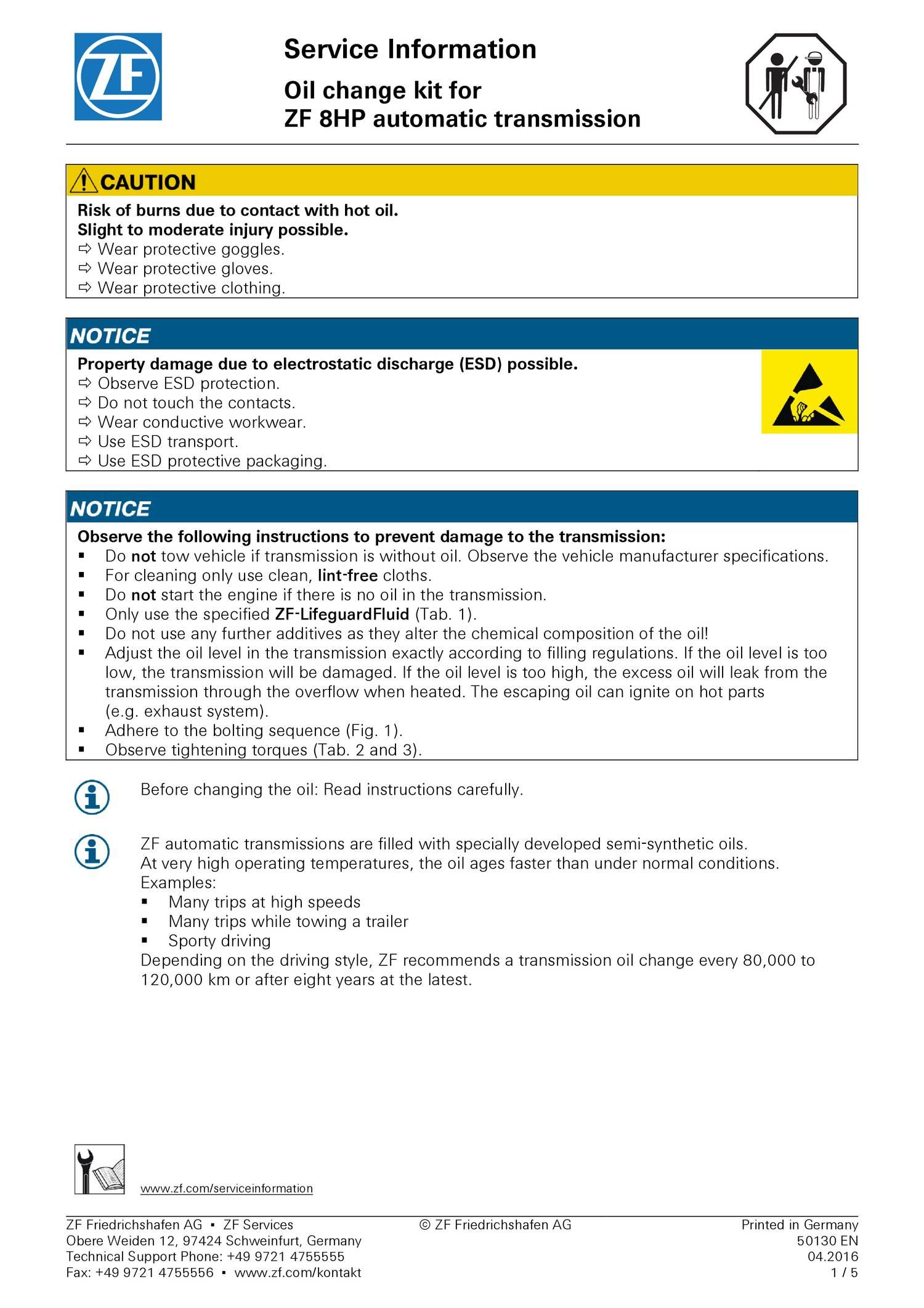 ZF_SI_Oelwechselkit_8HP_50130_EN pdf | DocDroid