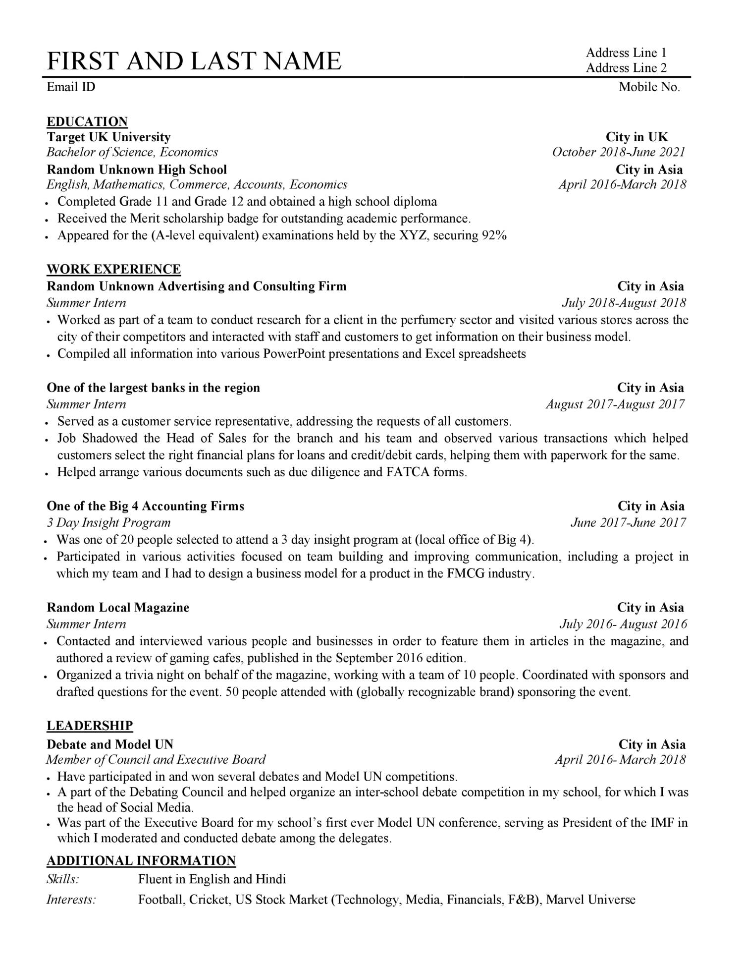 Anonymous CV pdf | DocDroid