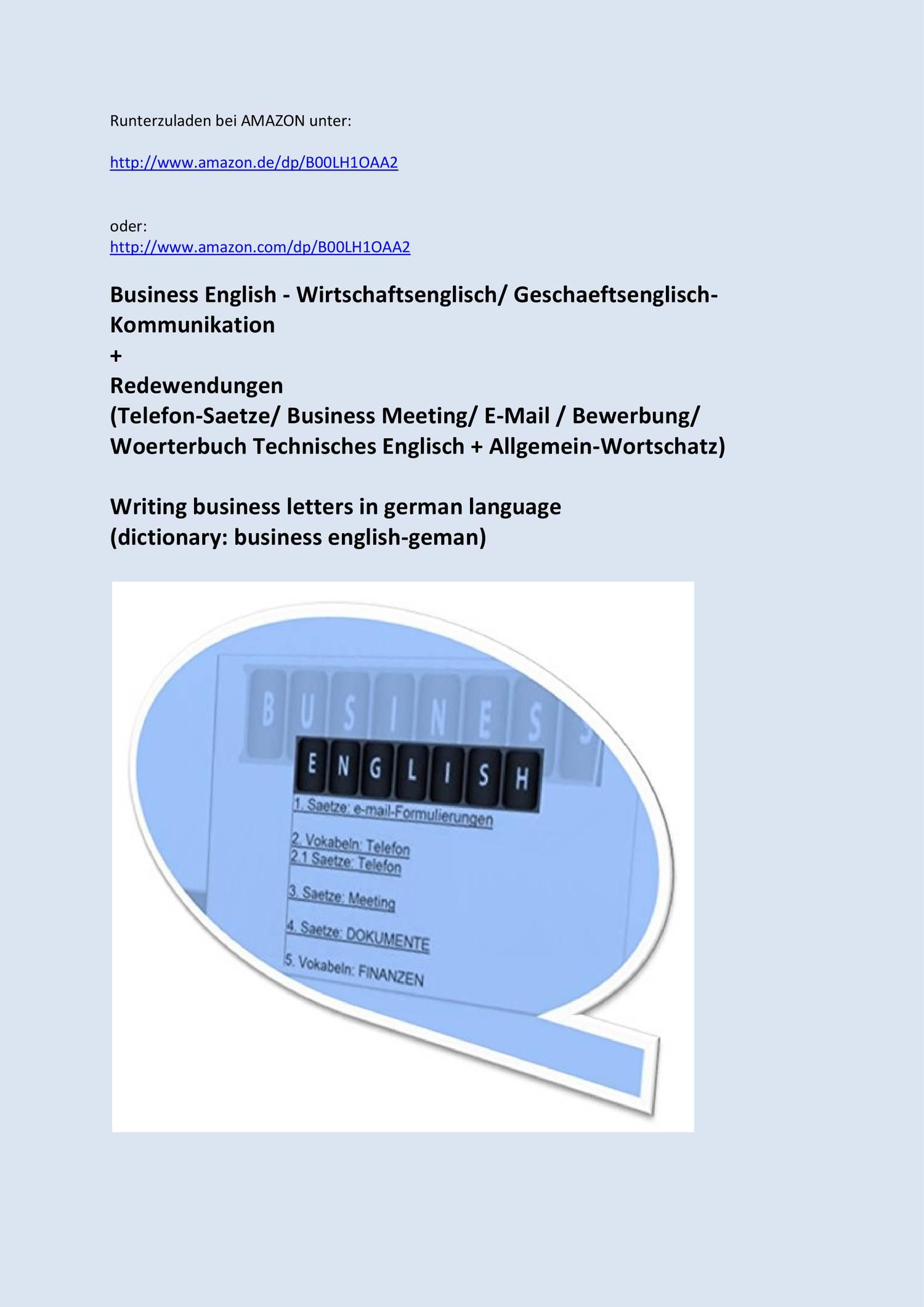 Wirtschaftsenglisch Geschaeftsbrief Telefon Formulierungen