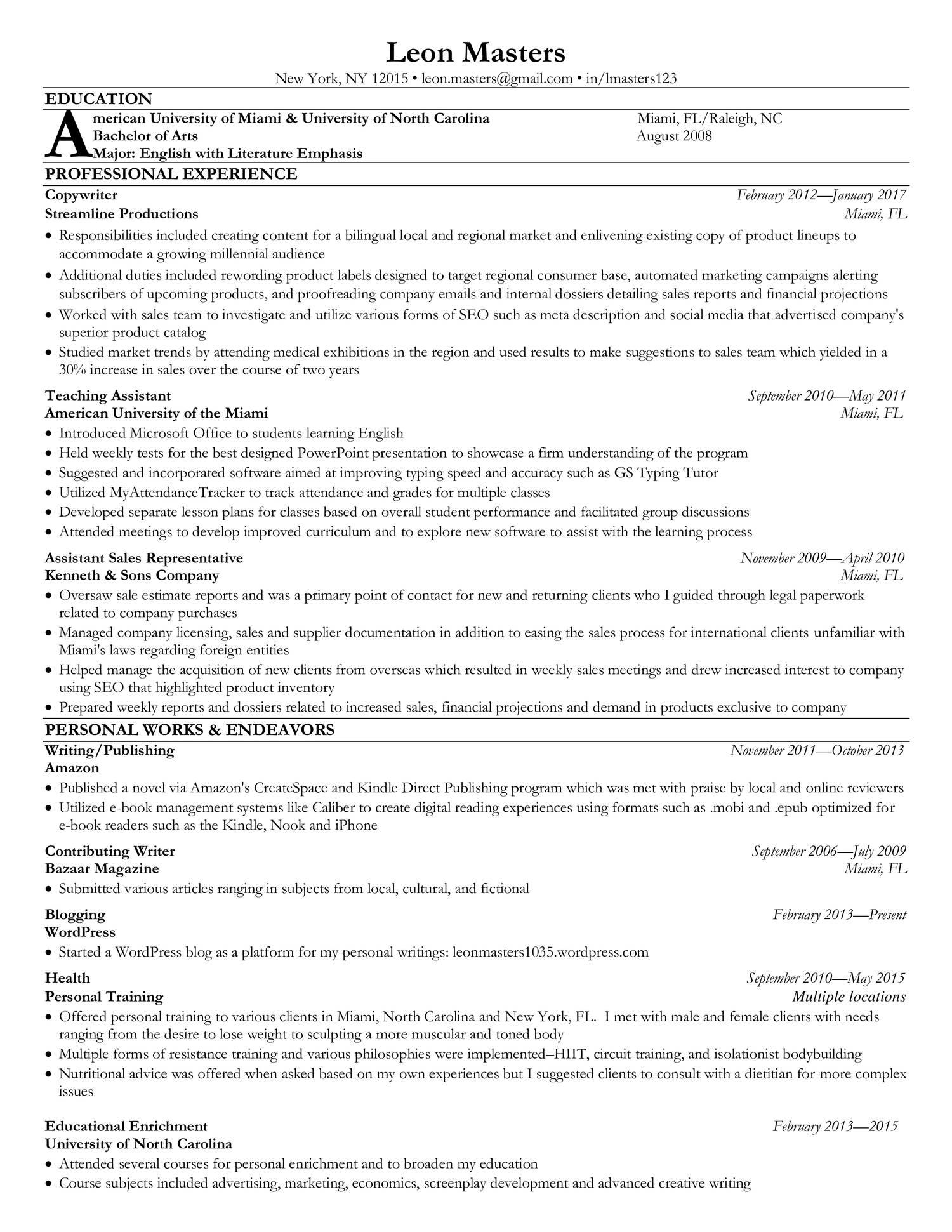 Fake Resume Pdf Docdroid