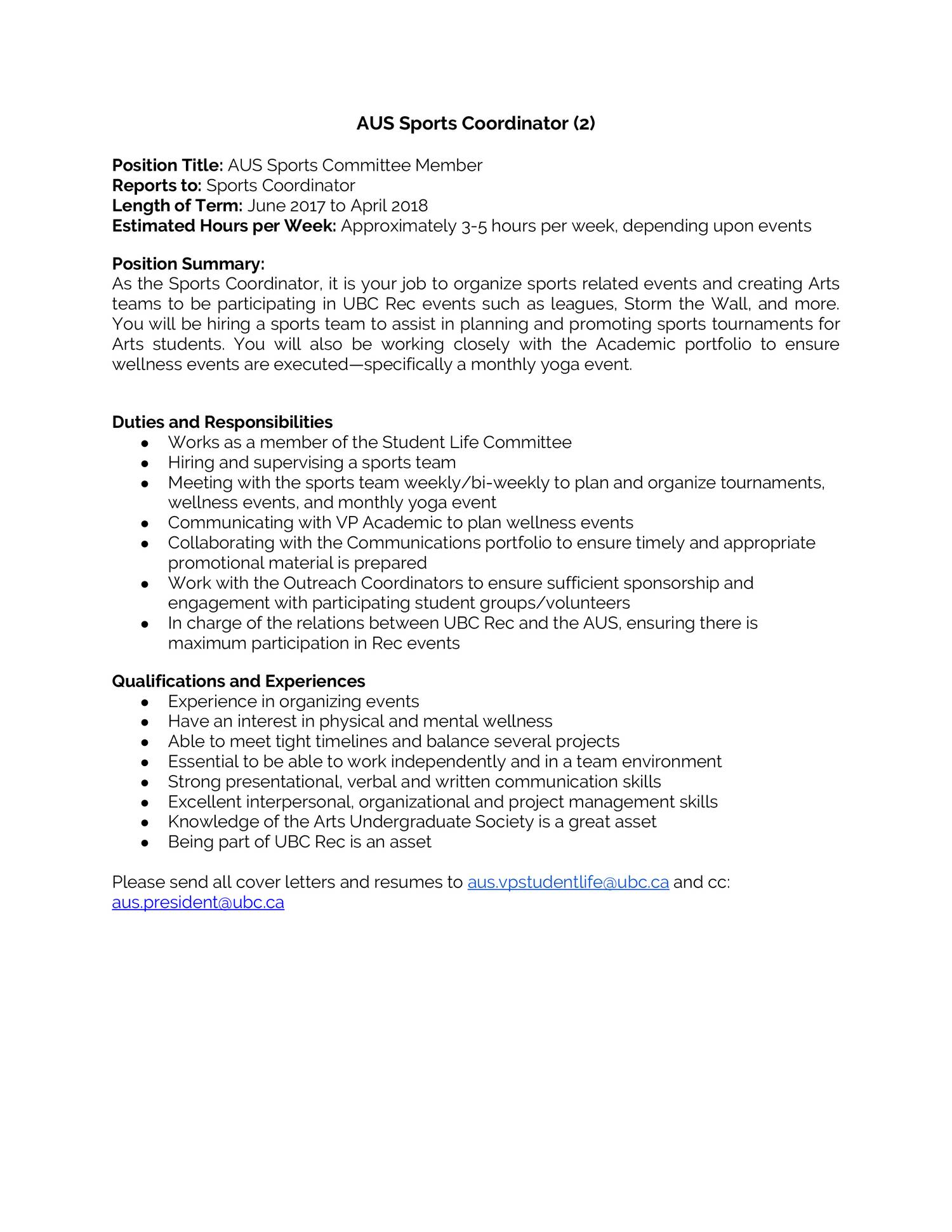Sports Management Cover Letter from www.docdroid.net