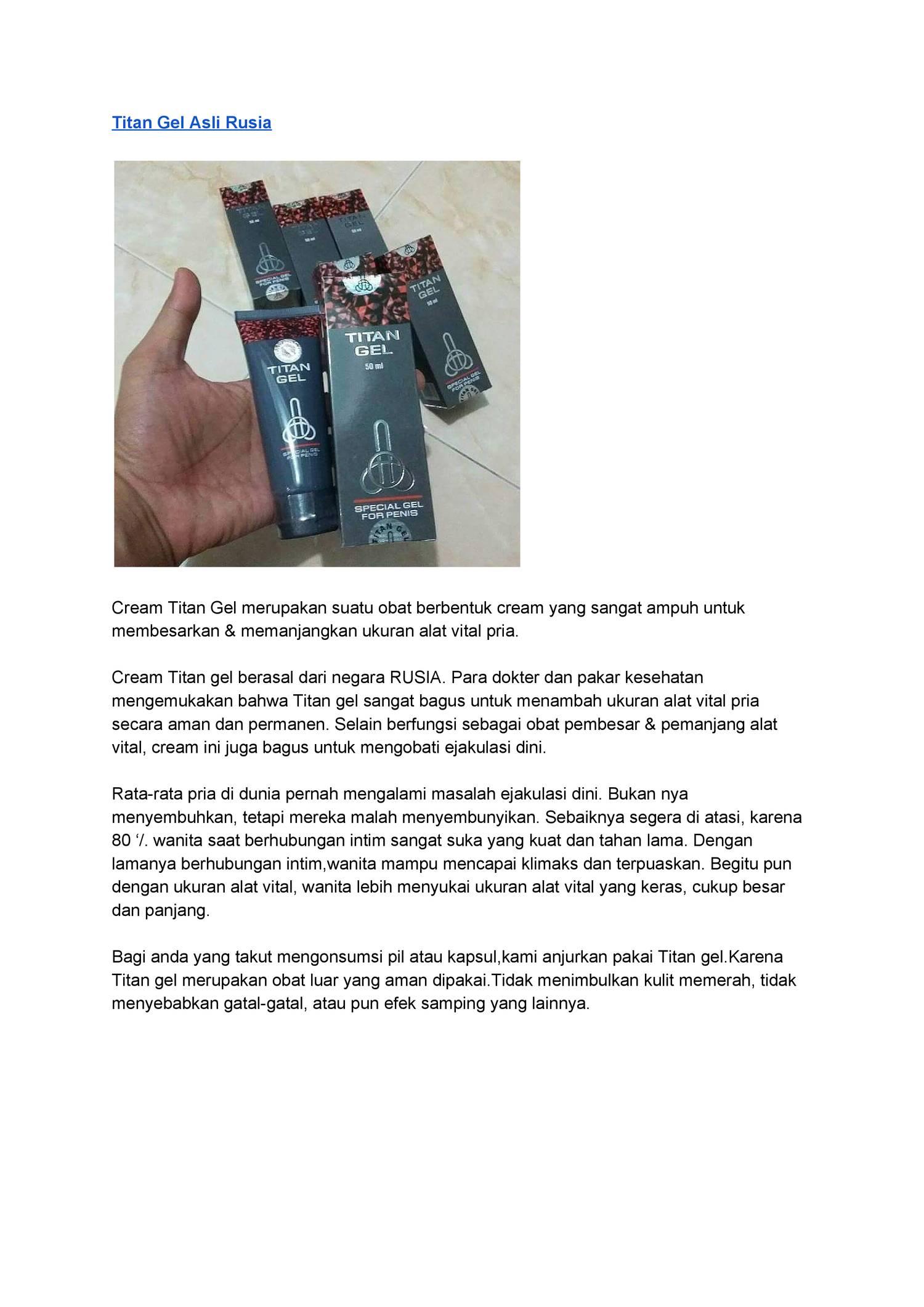 cream titan gel asli rusia pdf docdroid