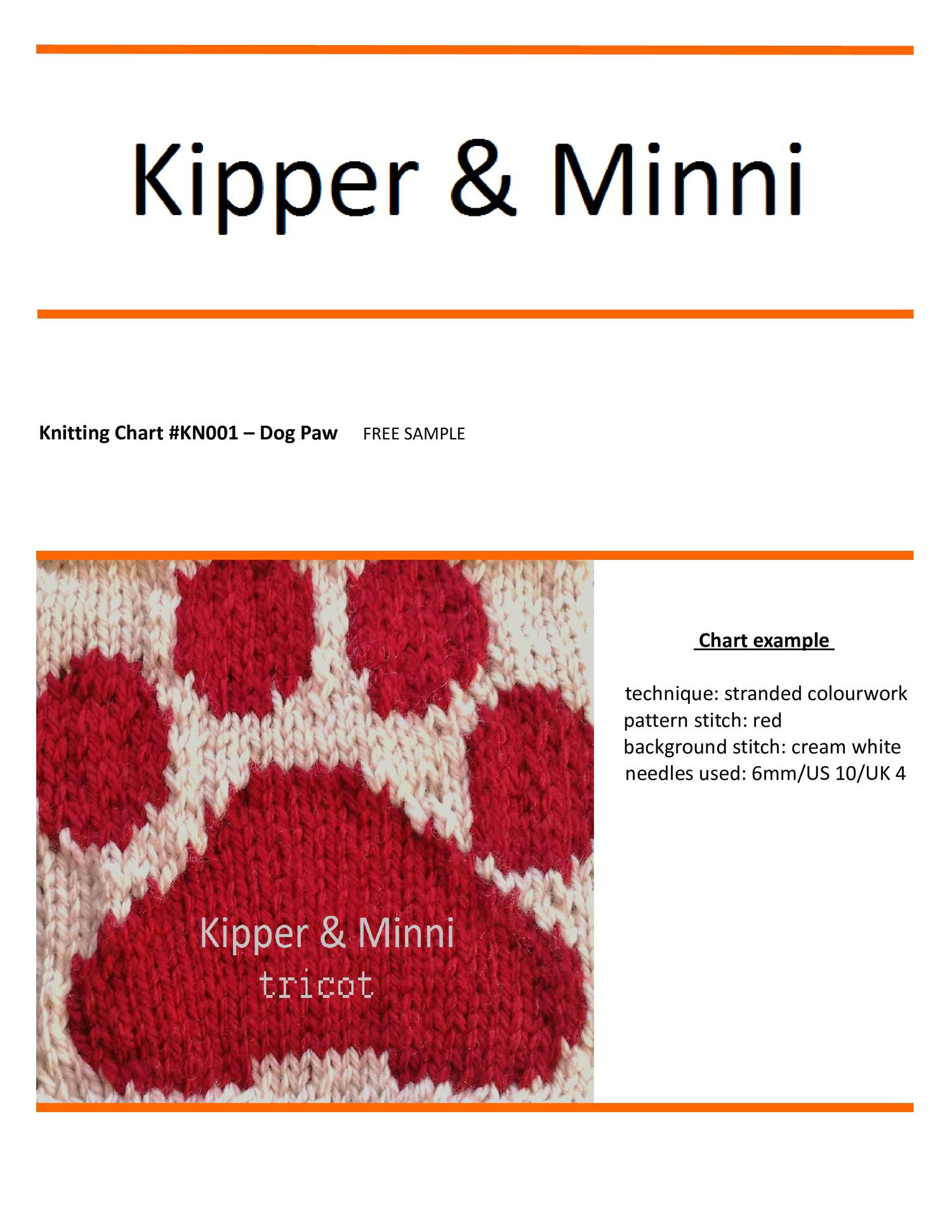 FREE knitting pattern - Dog Paw pdf | DocDroid