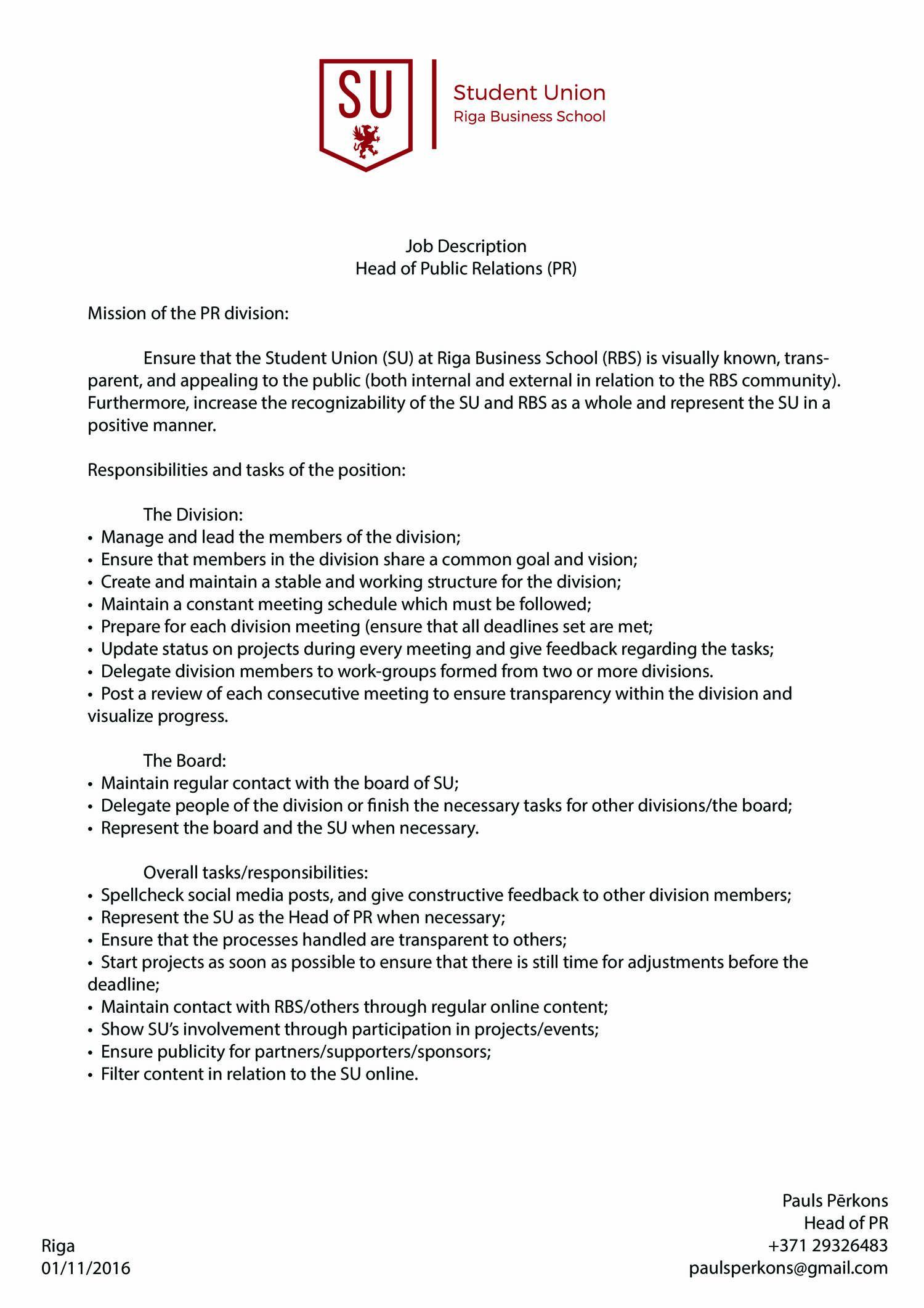 Job Description PR.pdf | DocDroid