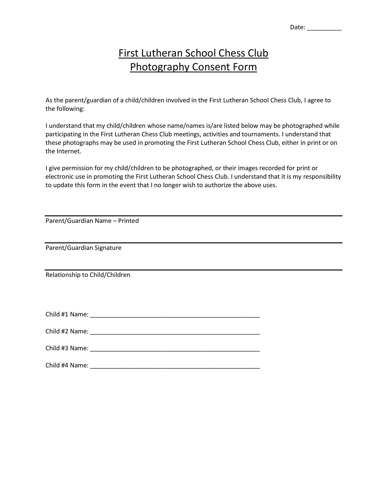 Photography Consent Formdocx DocDroid – Photography Consent Form