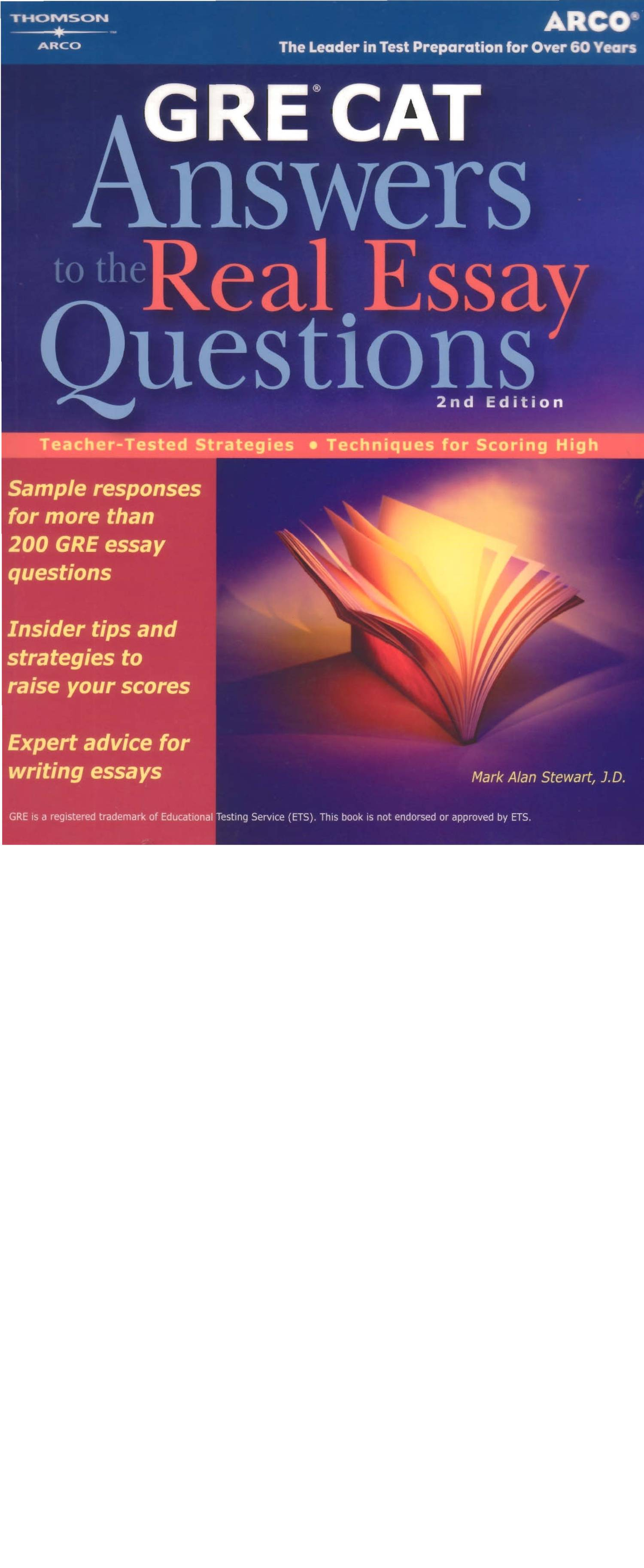 Fresh sample gre essay
